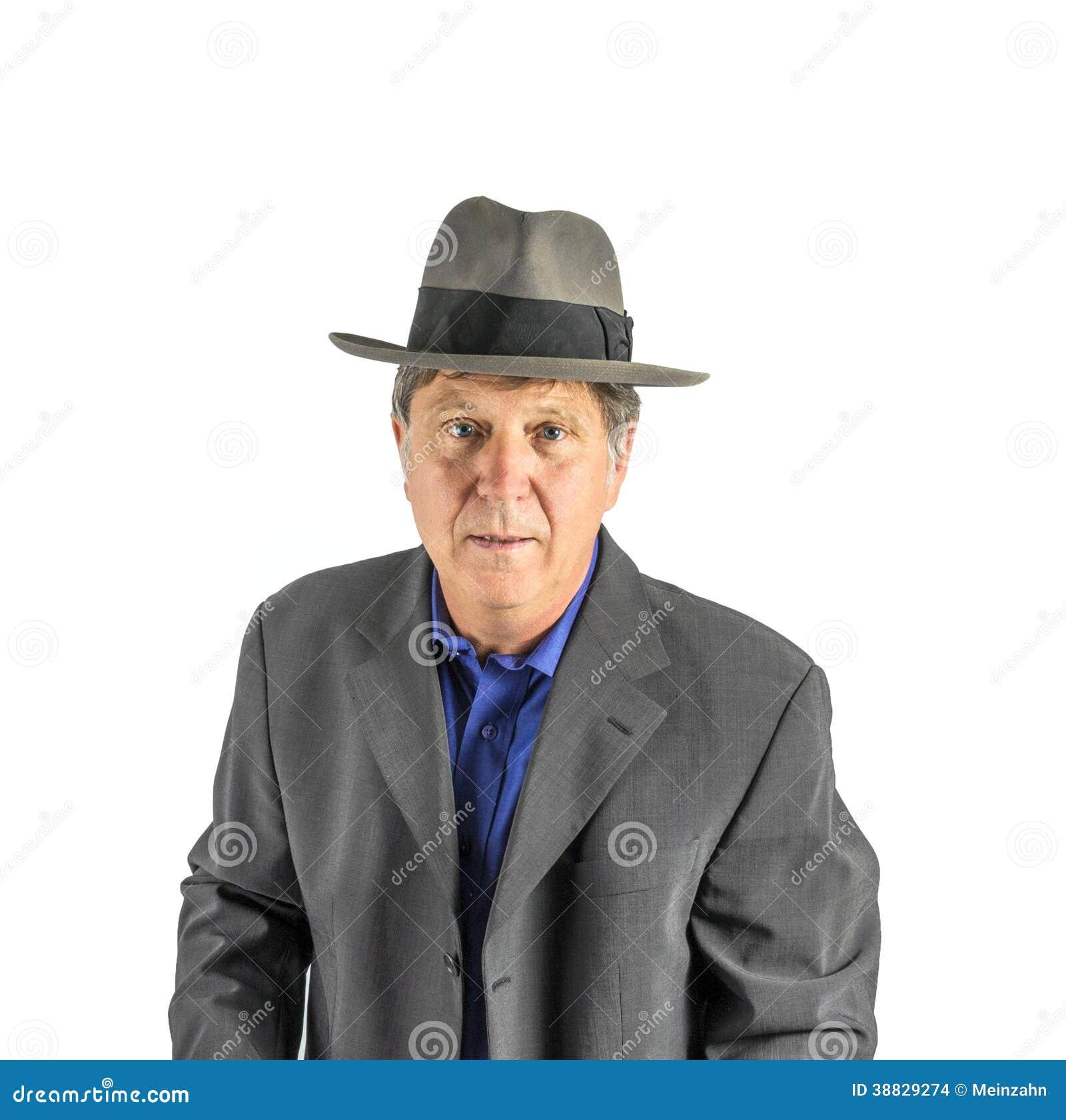Uomo Con Il Cappello In Vestito Elegante Fotografia Stock - Immagine ... 9e86d20d0f8b