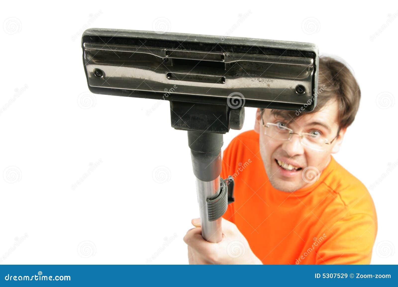 Download Uomo Con Il Primo Piano Di Vuoto Immagine Stock - Immagine di scopa, copia: 5307529