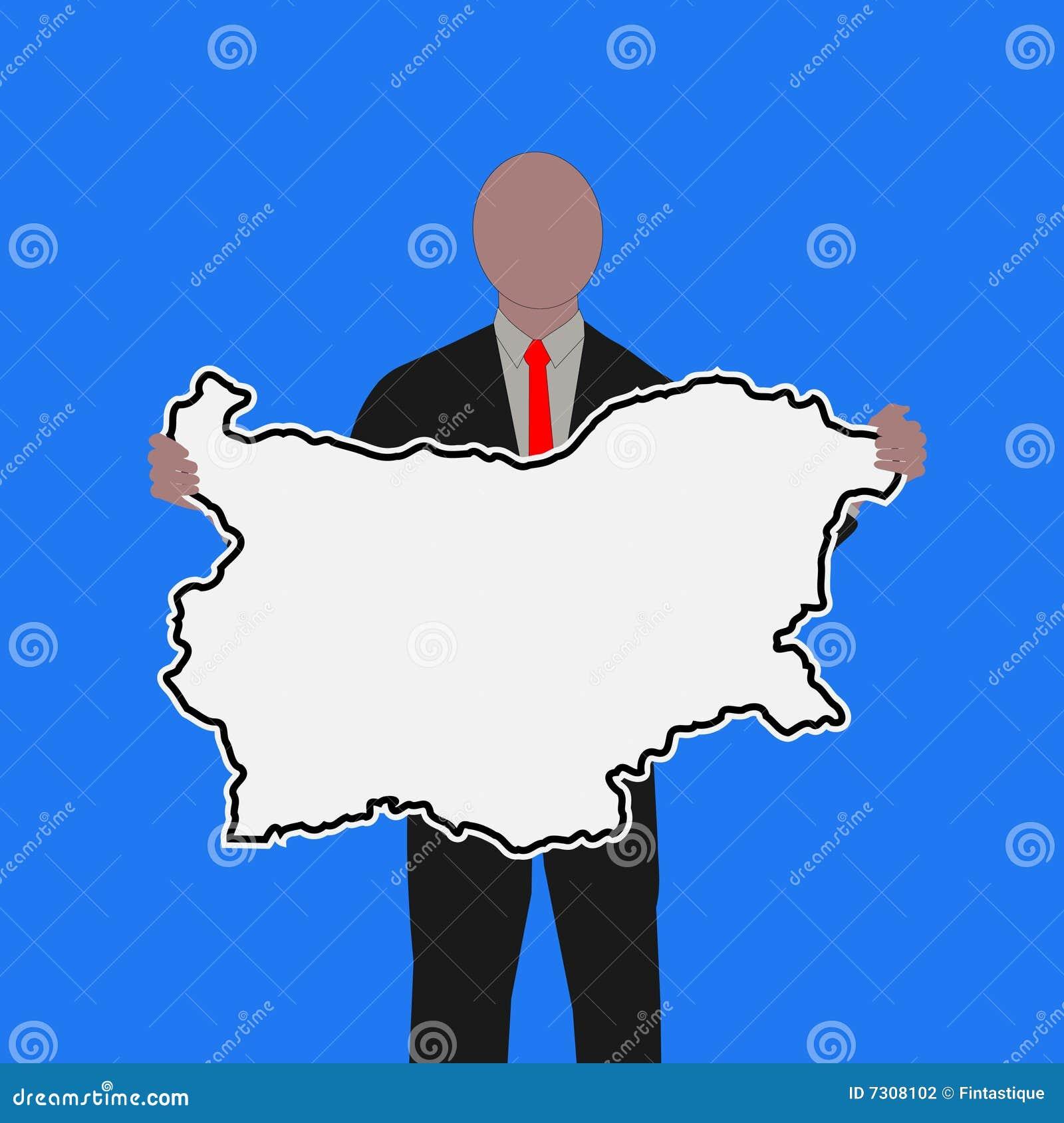 Uomo con il segno della Bulgaria