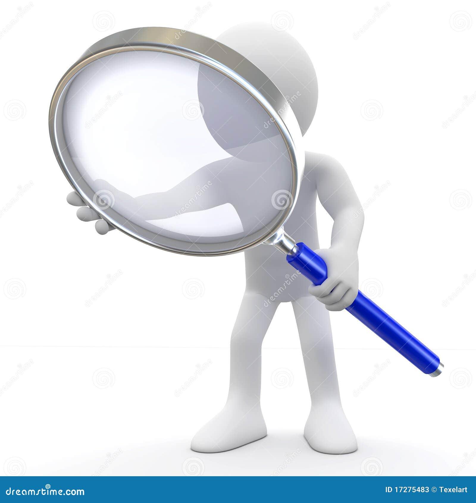 Uomo con la lente d 39 ingrandimento illustrazione di stock - Specchio con lente di ingrandimento ...