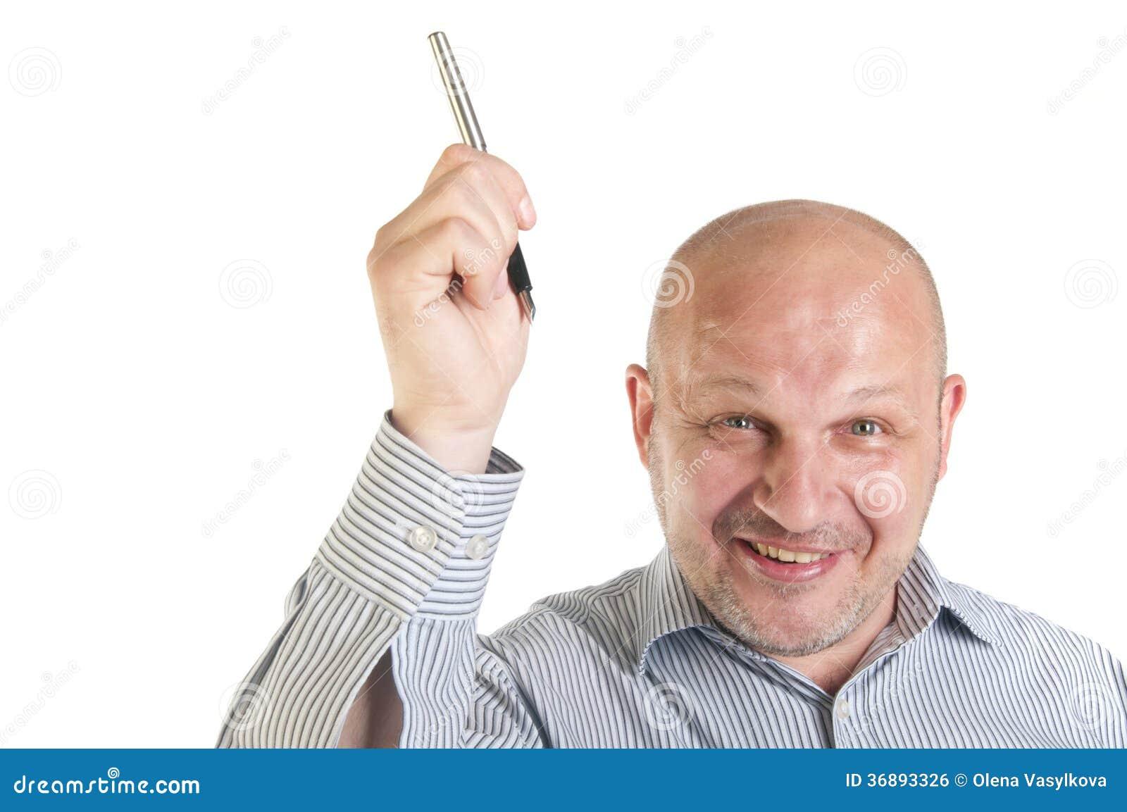 Download Uomo D'affari Che Mostra Indicare Su. Fotografia Stock - Immagine di esecutivo, barretta: 36893326