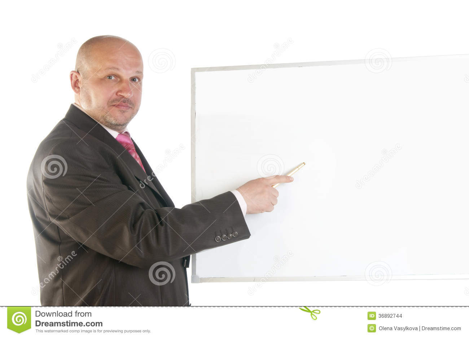 Download Uomo D'affari Che Mostra Insegna In Bianco. Fotografia Stock - Immagine di esposizione, businessman: 36892744