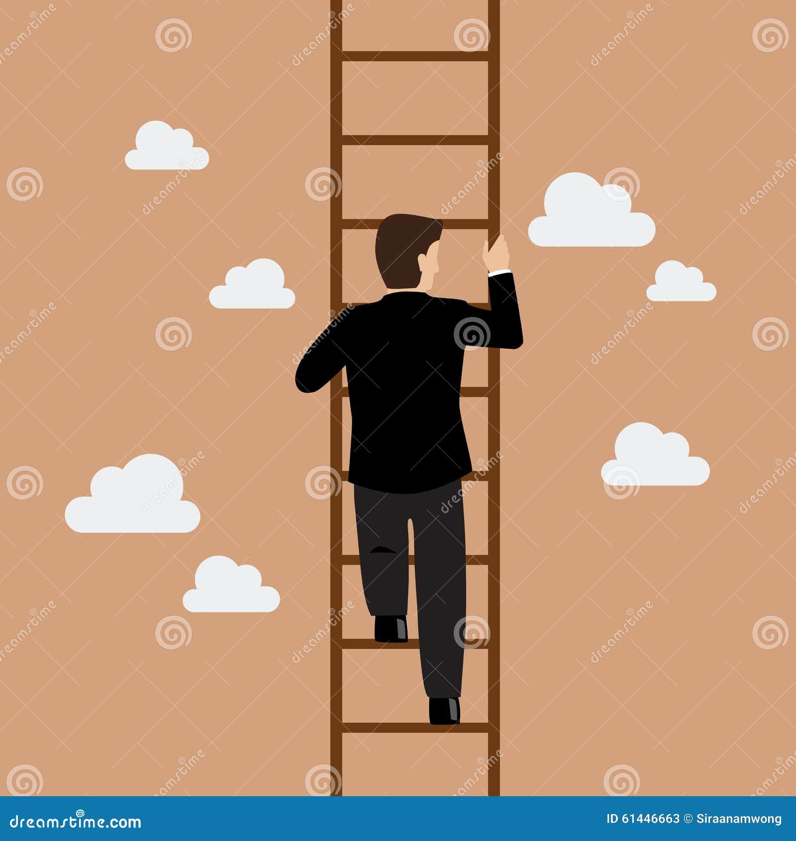 Uomo d 39 affari che sale la scala illustrazione vettoriale for Sedia elettrica che sale le scale