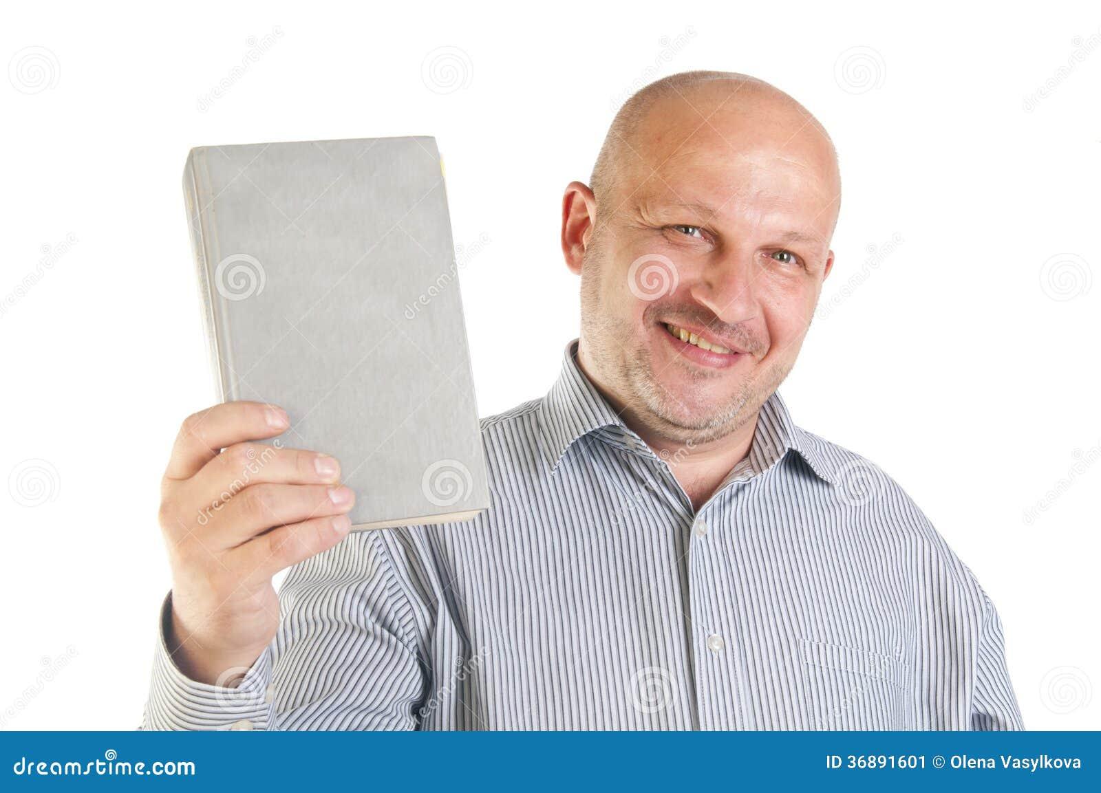 Download Uomo D'affari Che Tiene Un Libro. Immagine Stock - Immagine di libro, attraente: 36891601