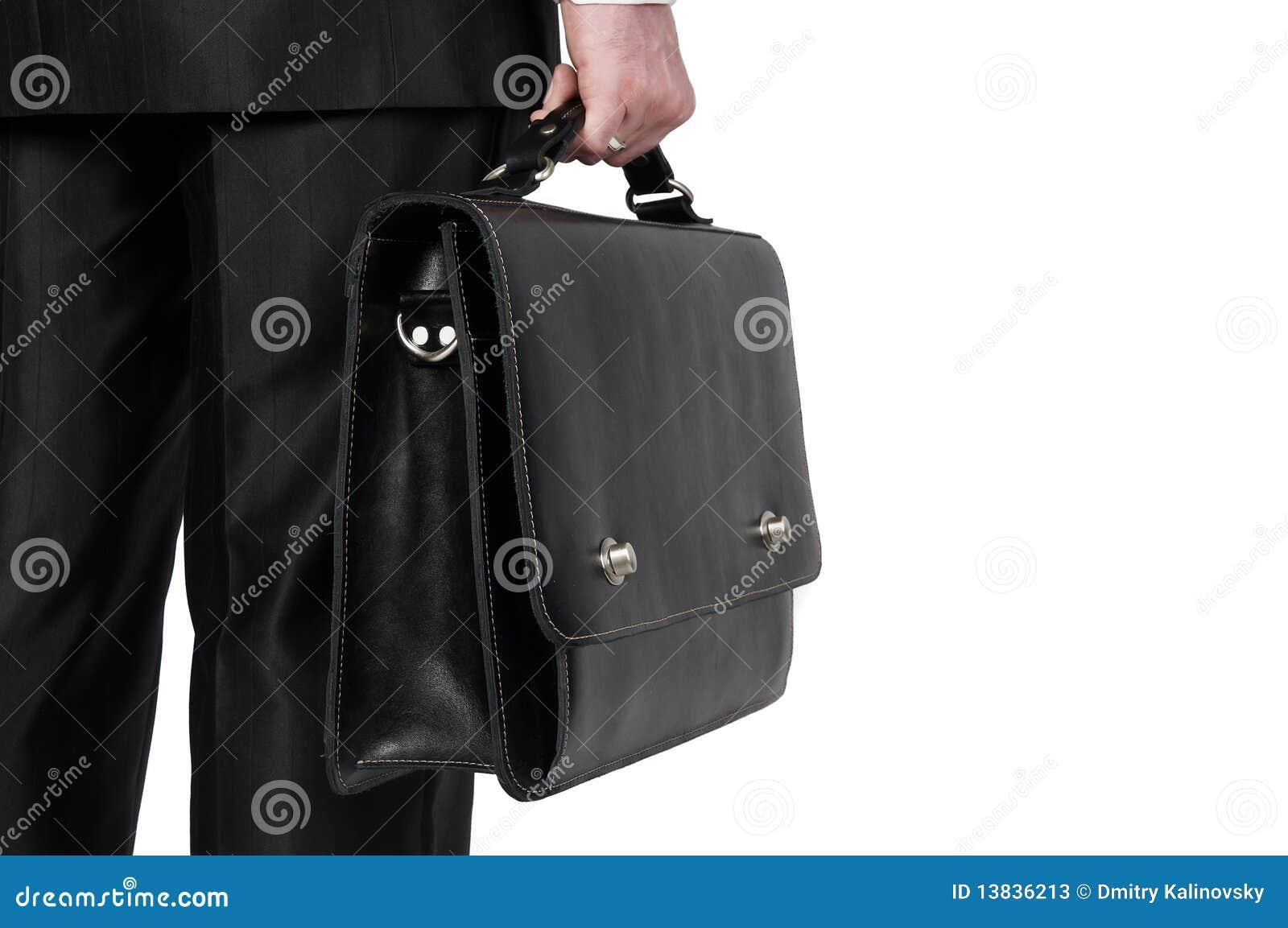 Uomo d affari con la valigia