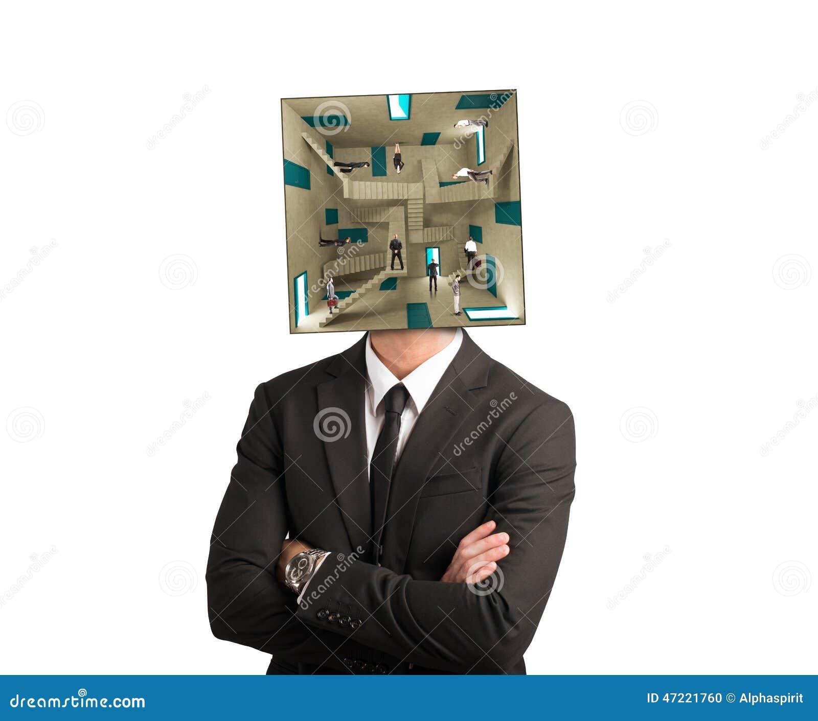 Uomo d affari confuso