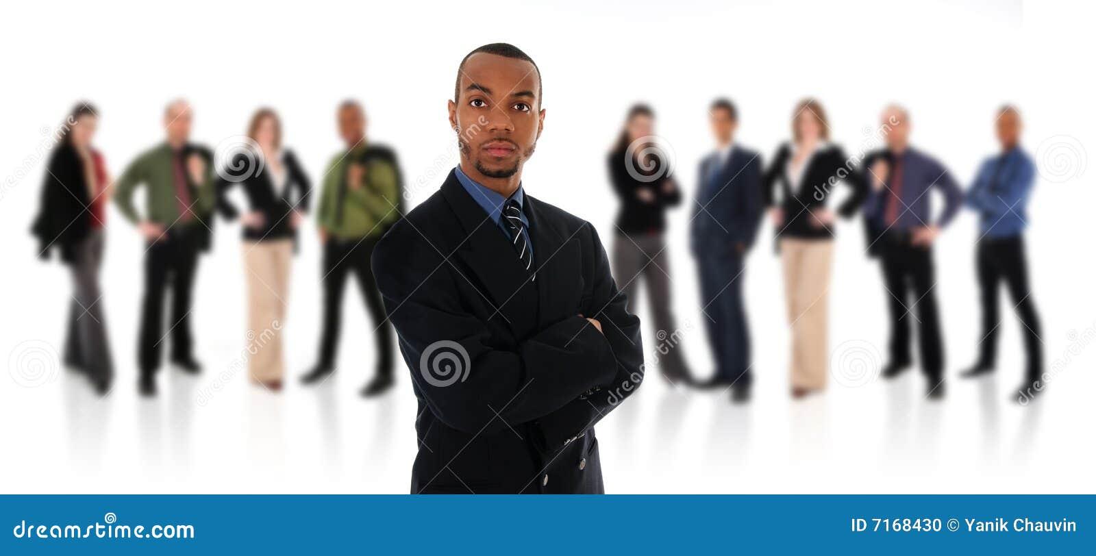 Uomo d affari e squadra africani