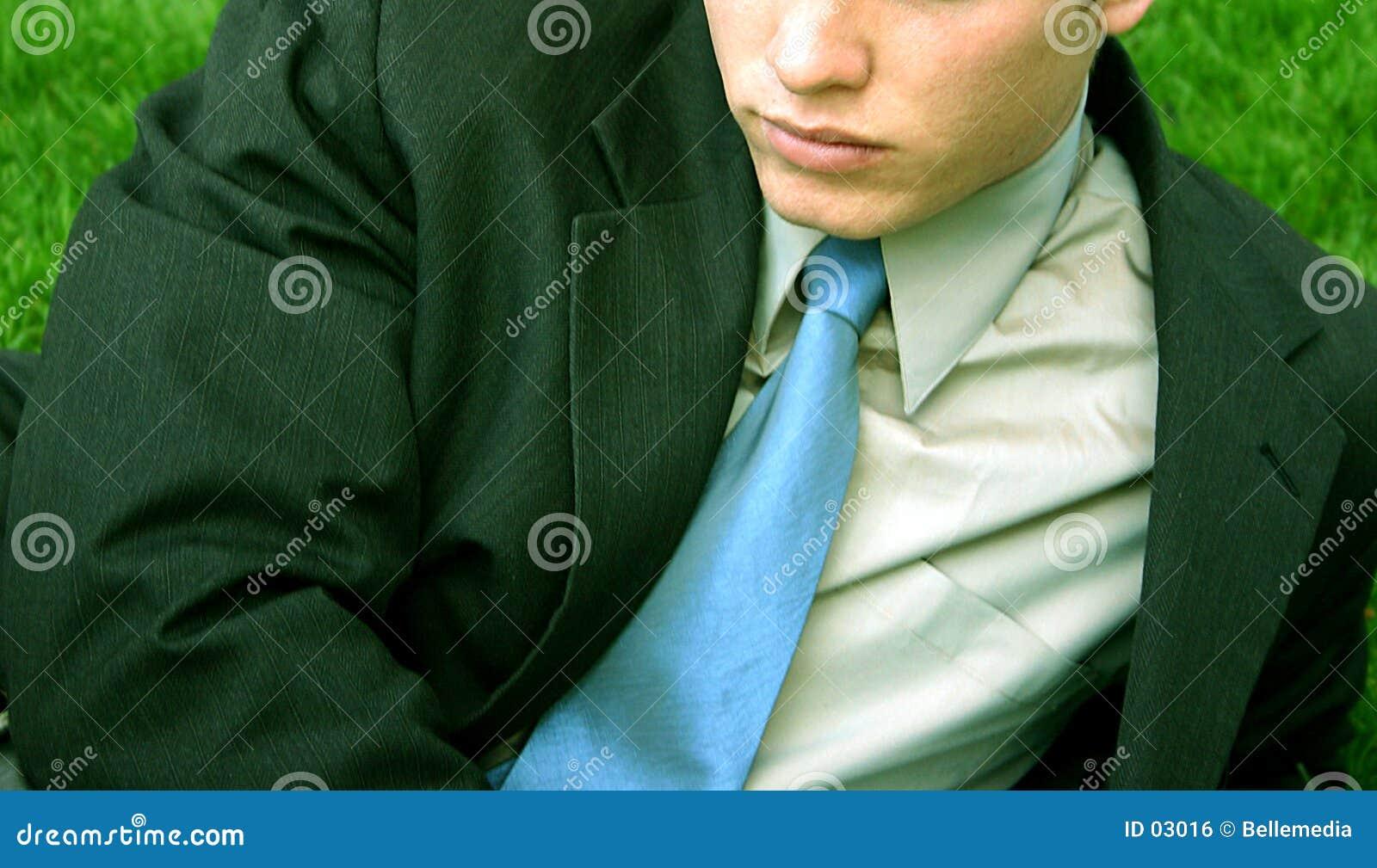 Uomo d affari - nell erba