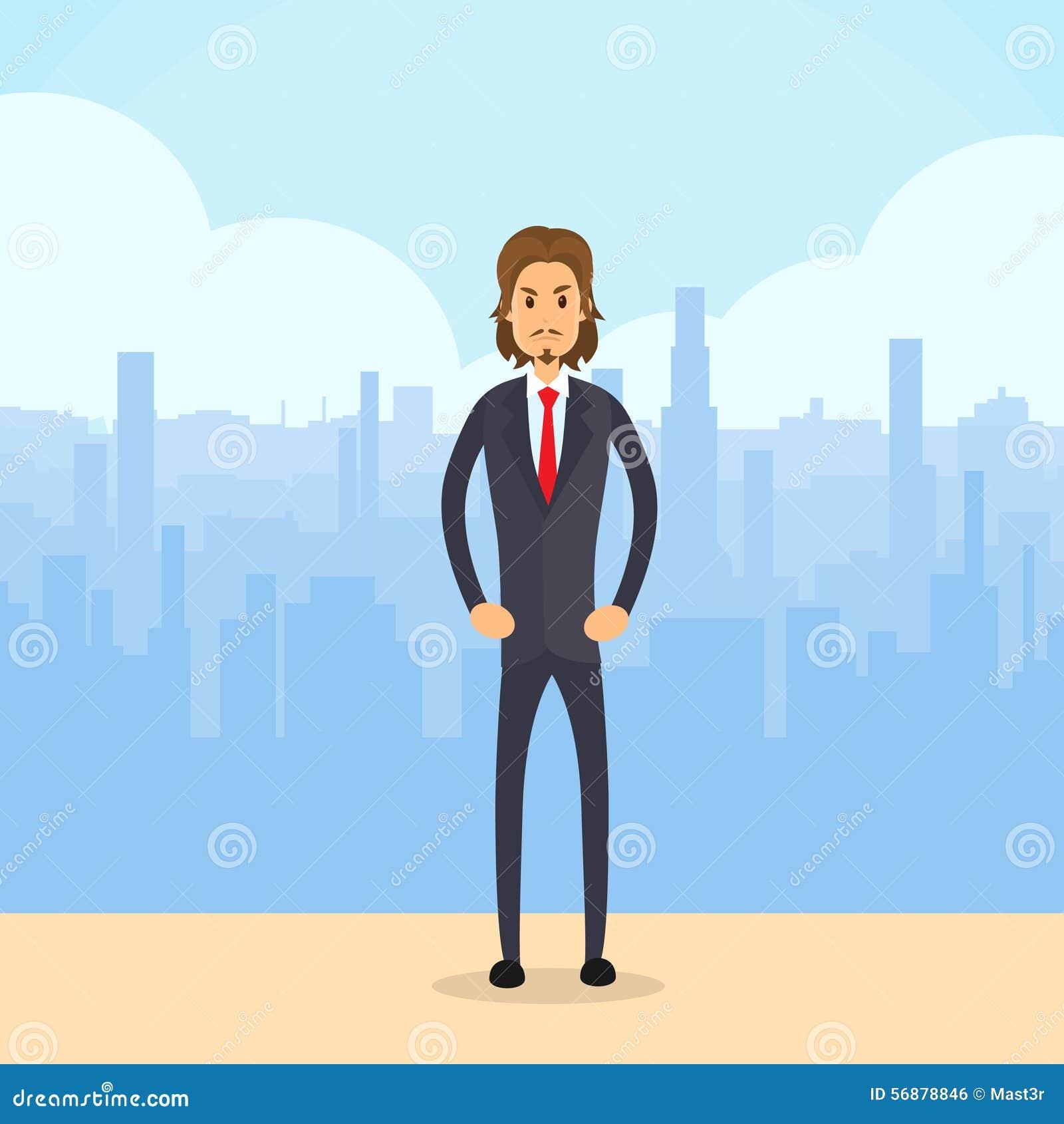 Uomo d affari Serious Full Length, città dell uomo di affari