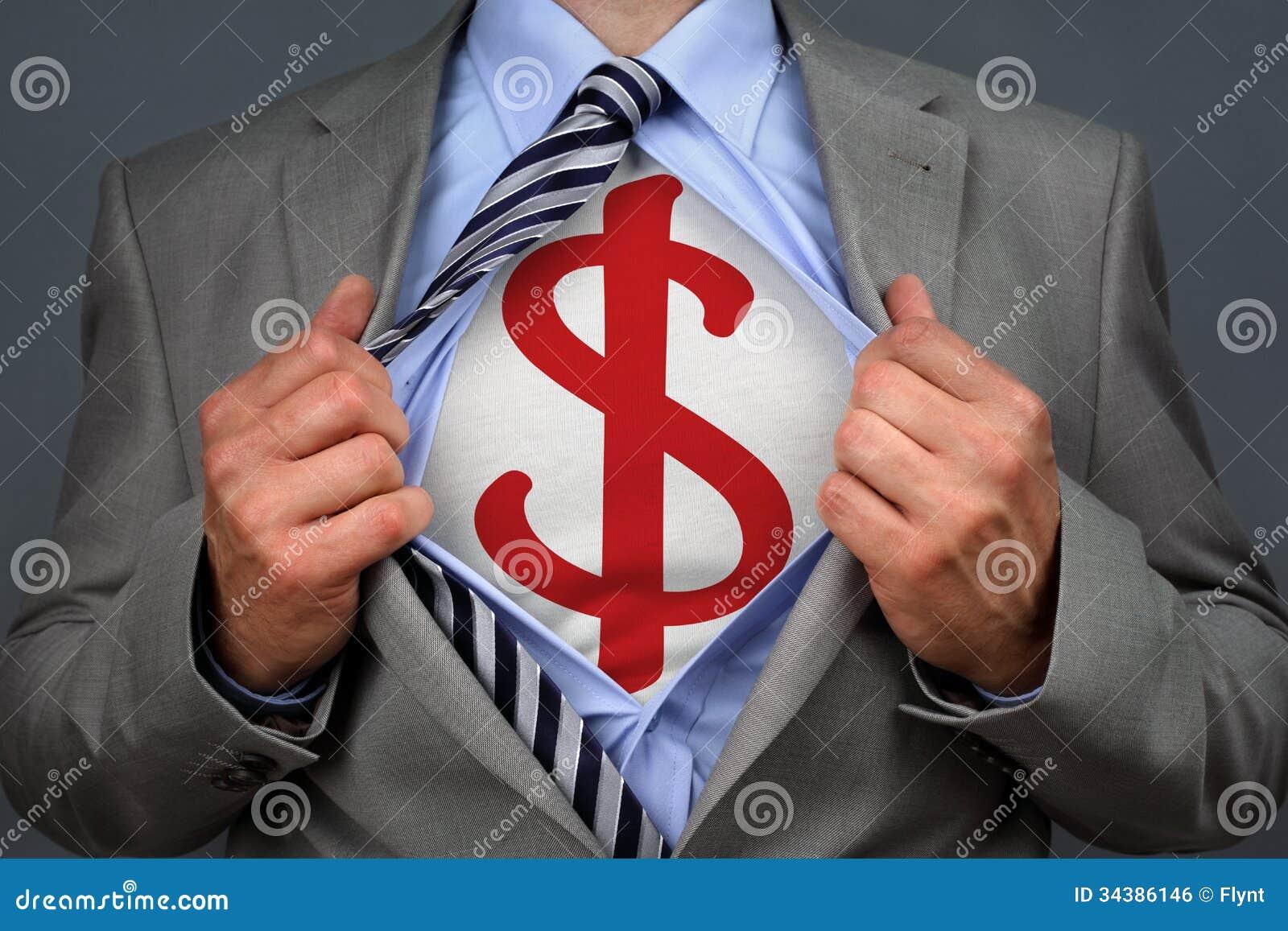 Uomo del dollaro del supereroe