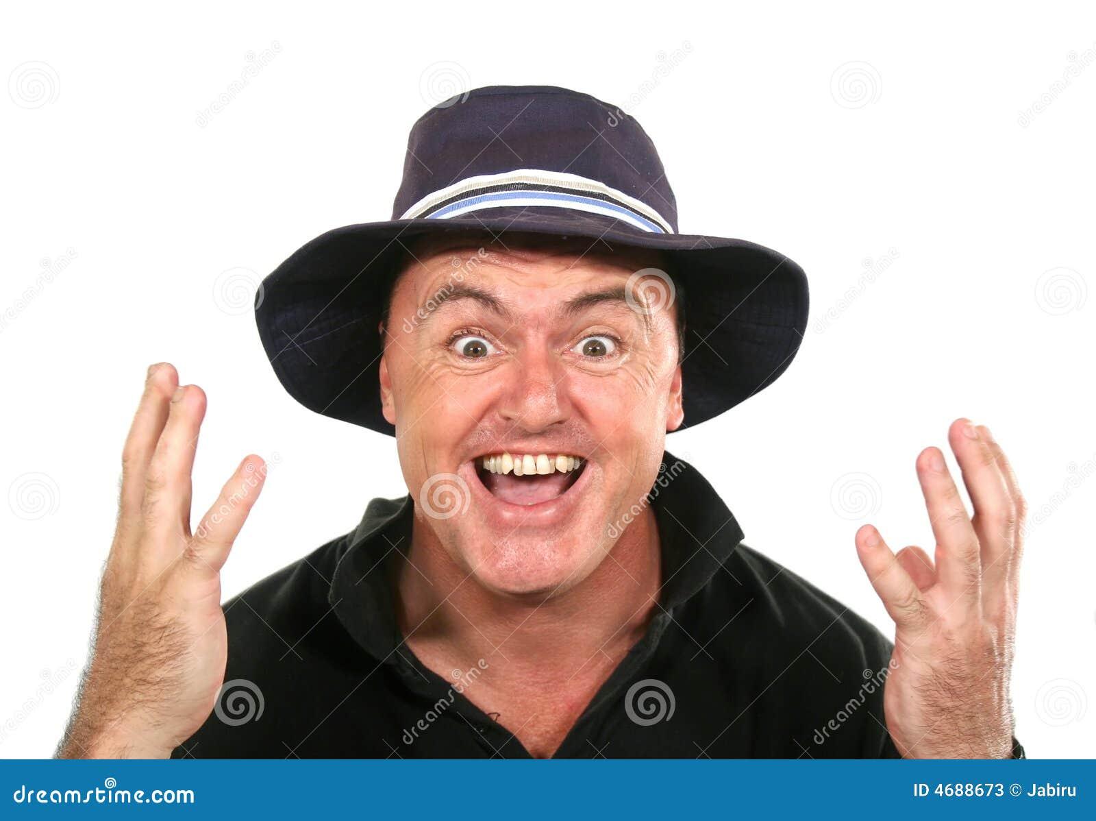 Uomo del Eureka in cappello