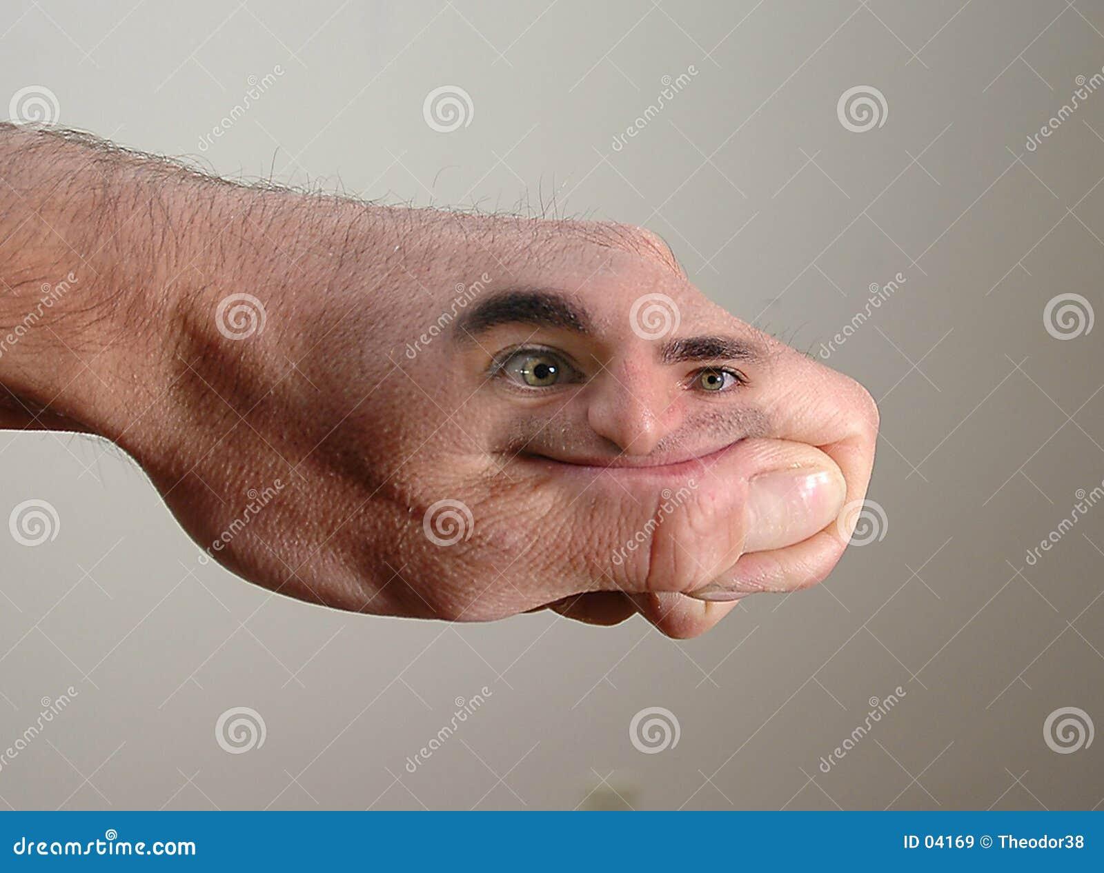 Download Uomo della mano immagine stock. Immagine di barrette, sorriso - 4169