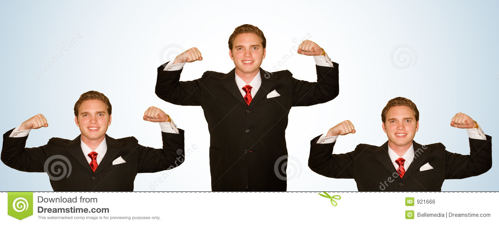 Uomo di affari con le braccia in su