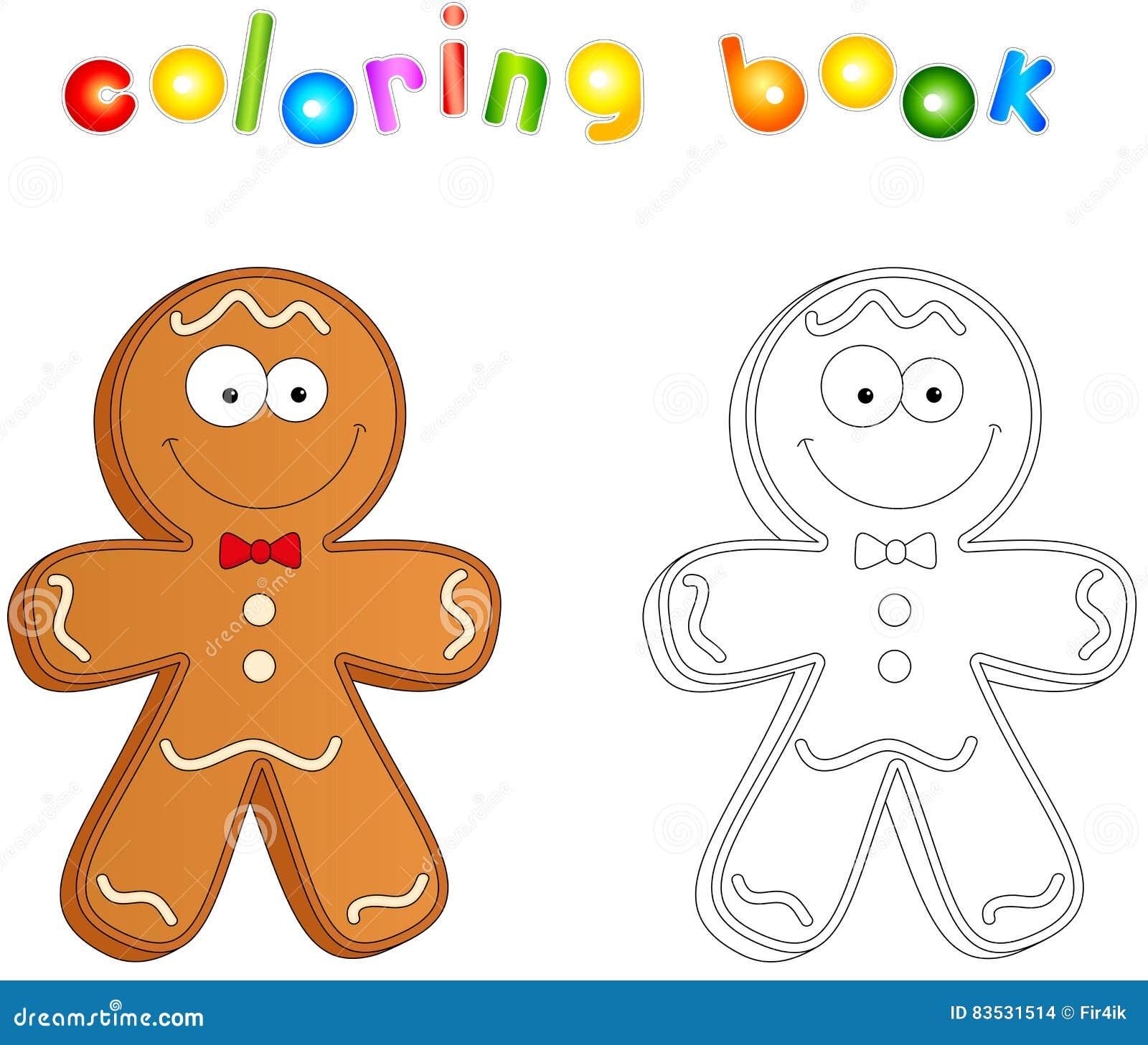 Uomo Di Pan Di Zenzero Di Natale Illustrazione Vettoriale