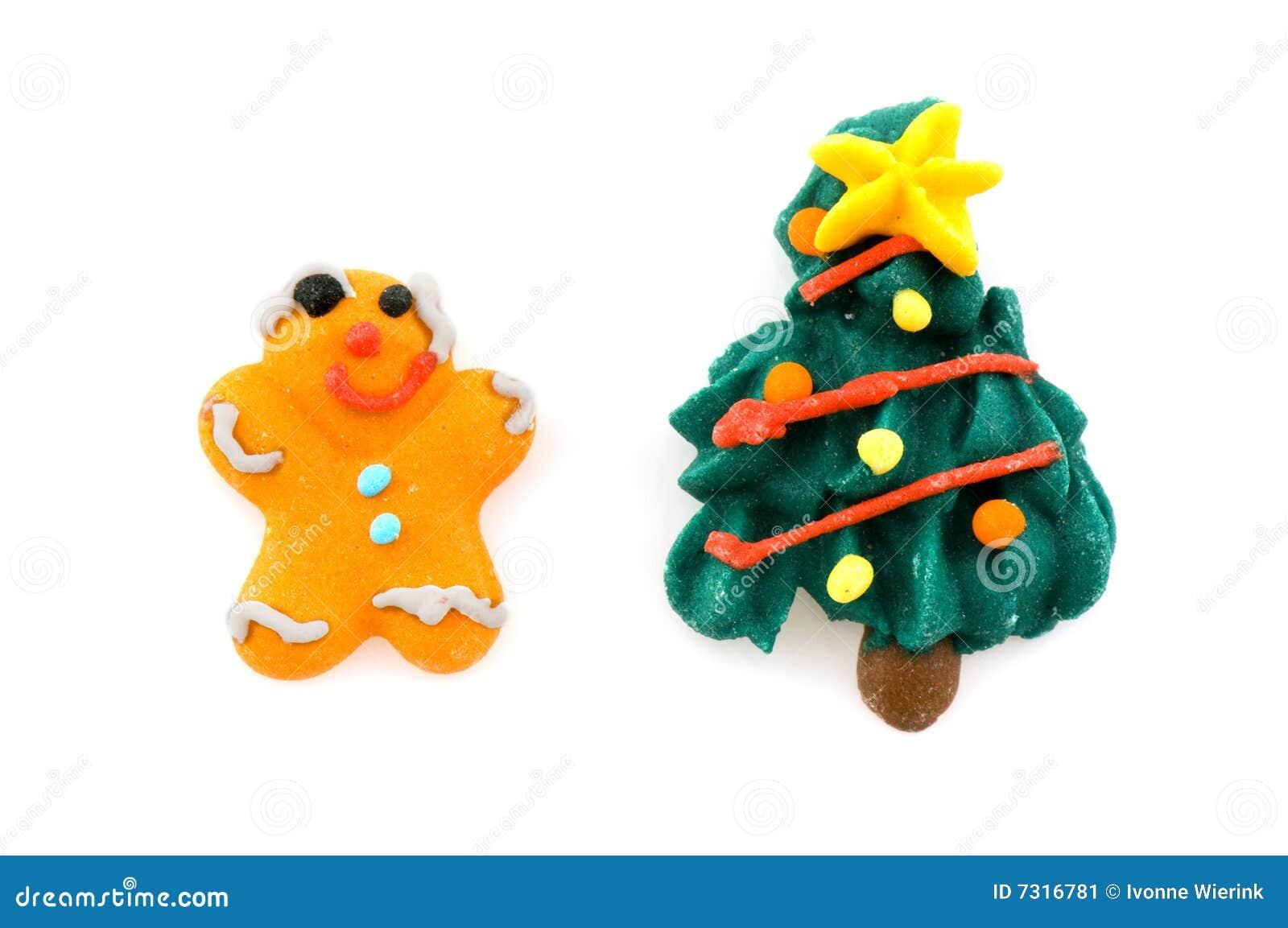 Uomo di pan di zenzero e dell Natale-albero