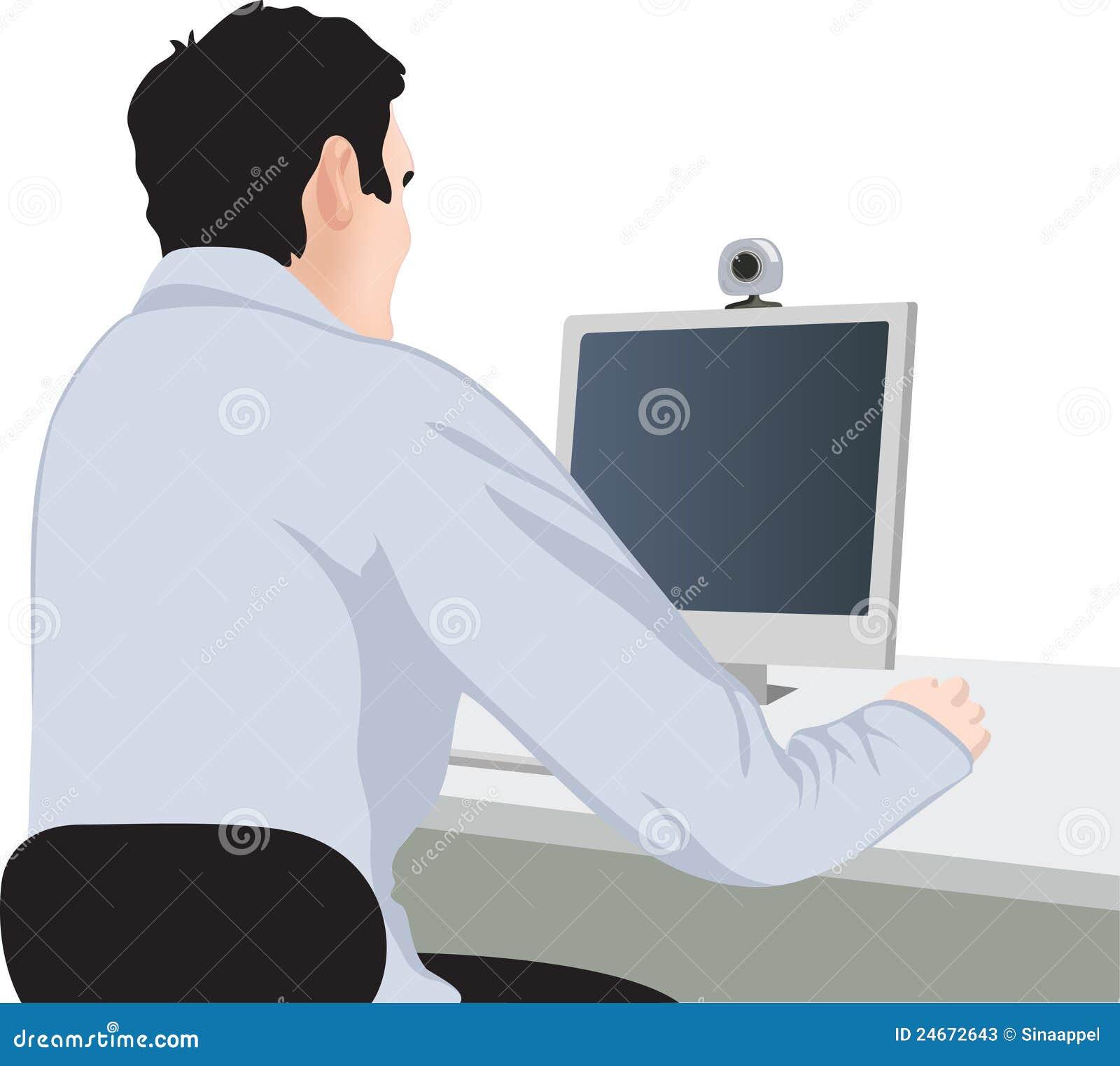 Uomo e calcolatore, vista posteriore