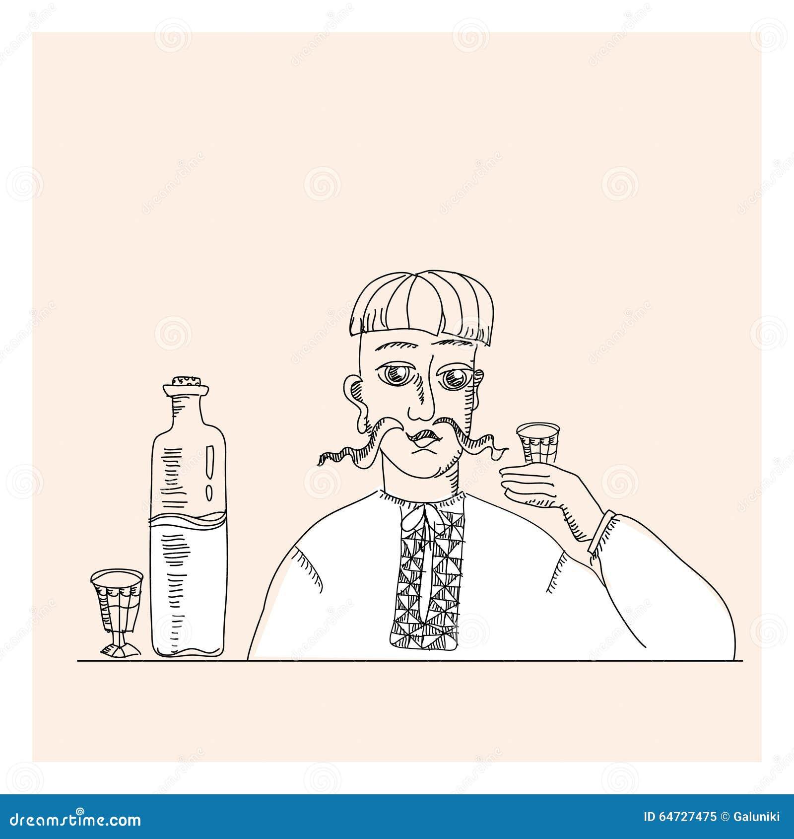 Uomo e vodka