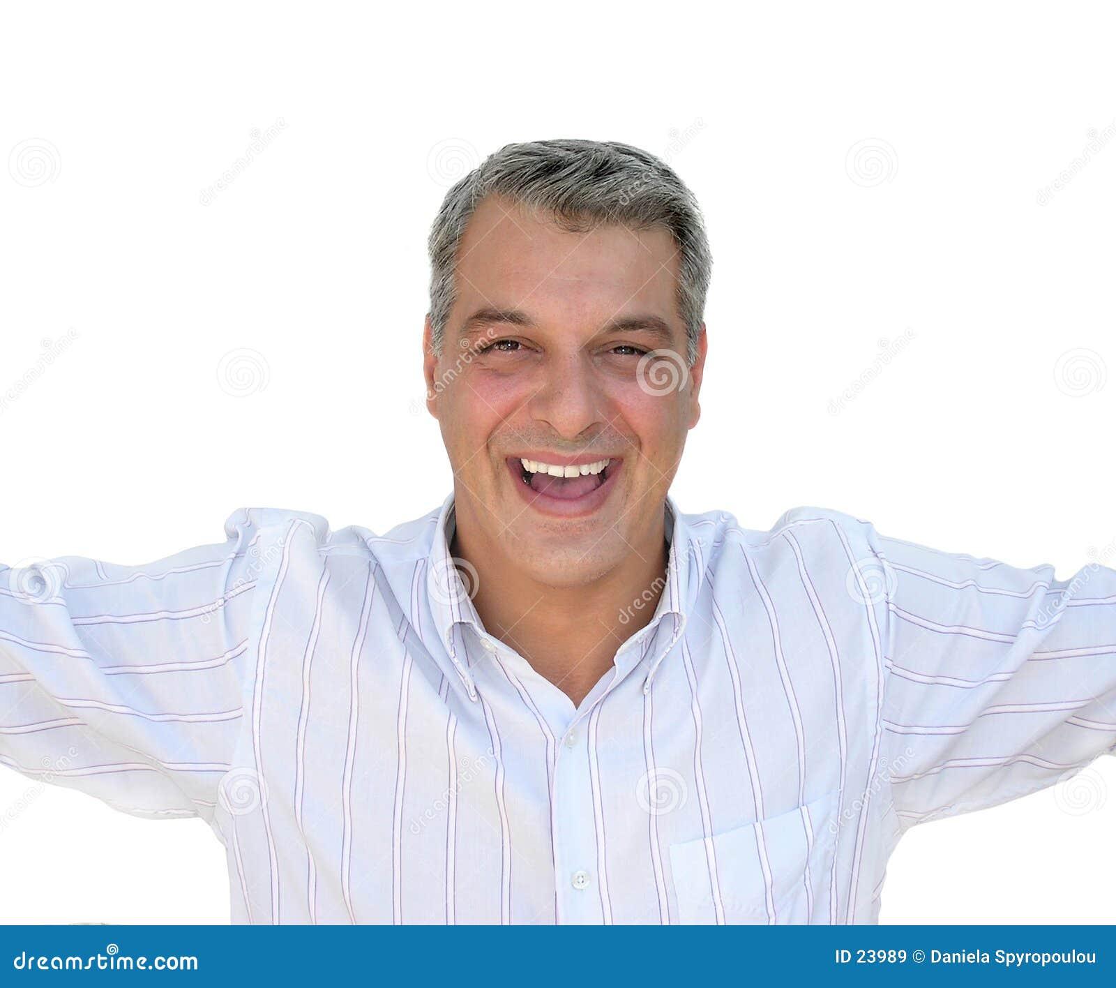 Download Uomo felice immagine stock. Immagine di gesticulate, felice - 23989