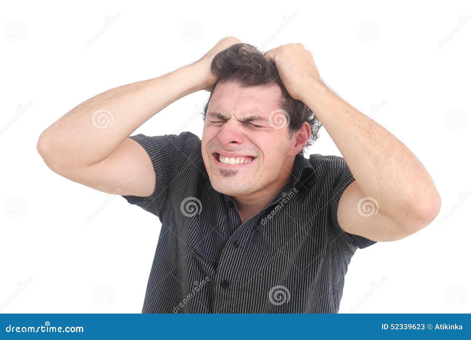 Uomo frustrato