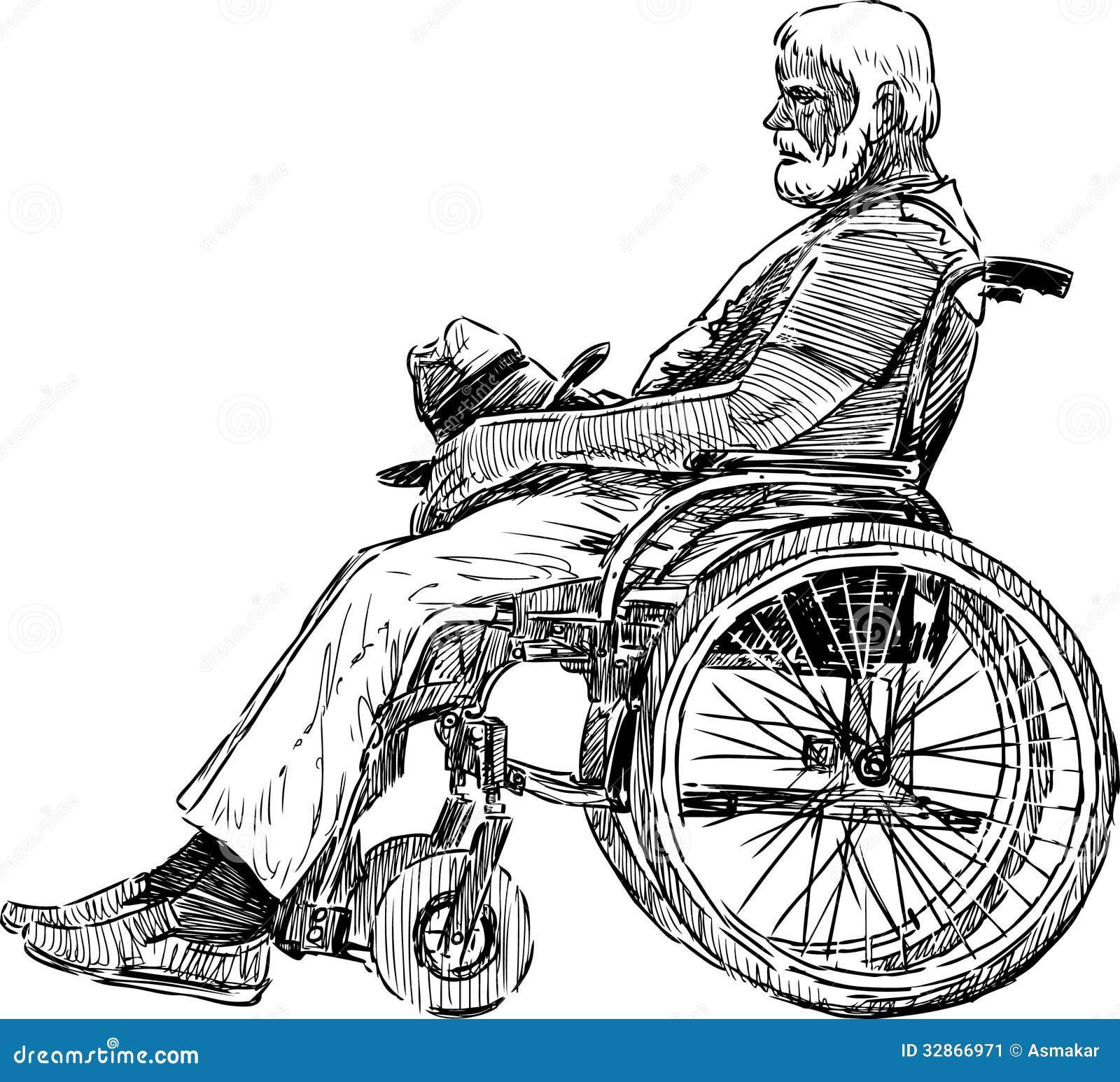 Uomo In Sedia A Rotelle Immagine Stock Immagine Di