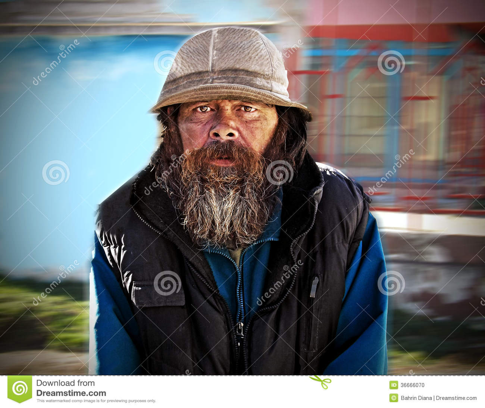 Uomo senza tetto