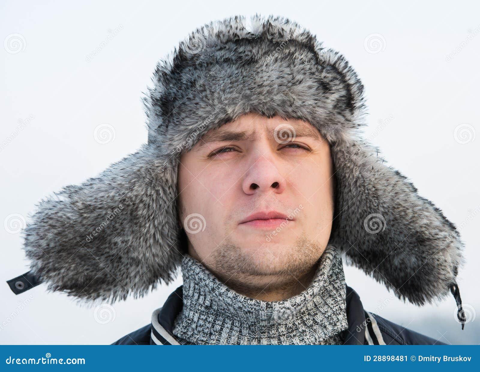 Un Stock Immagine In Inverno Uomo Cappello Pelliccia Della Di A57Uq61w