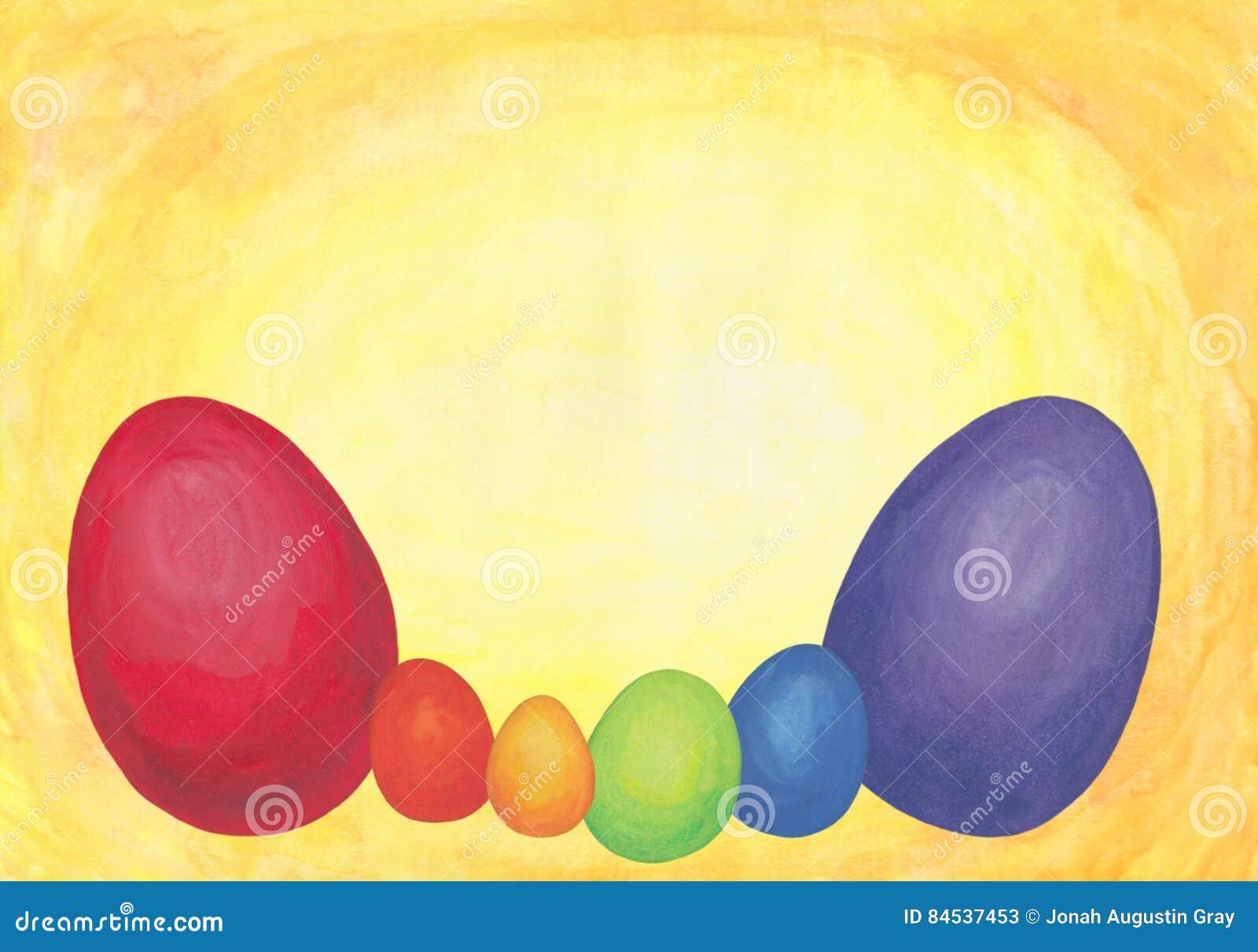 Uova di Pasqua colorate arcobaleno 2017