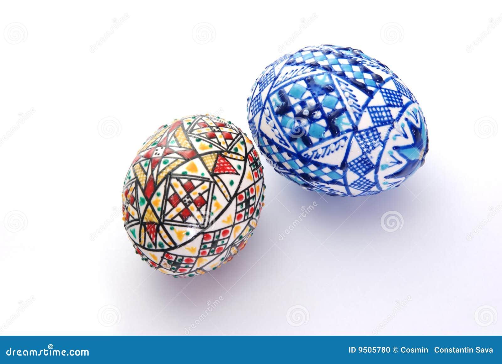 Uova di pasqua decorate fotografia stock immagine 9505780 - Pasqua uova decorate ...