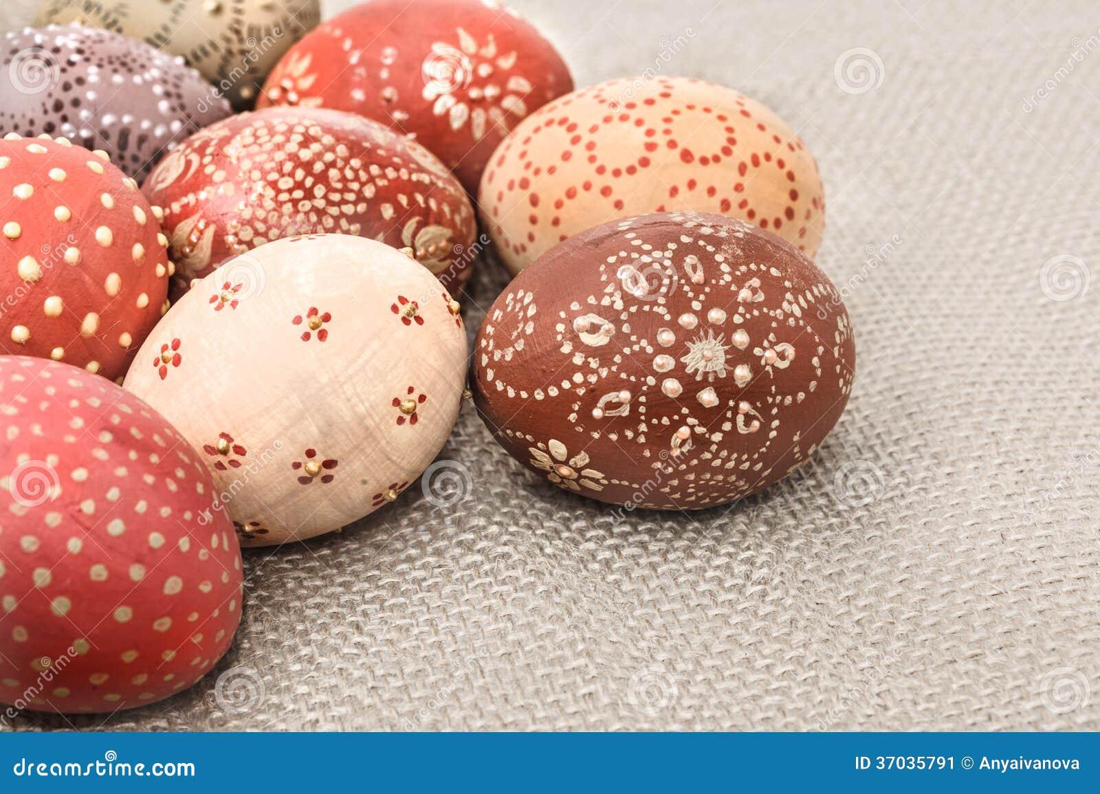 Uova di pasqua decorate composizione d 39 angolo immagine - Uova di pasqua decorate ...