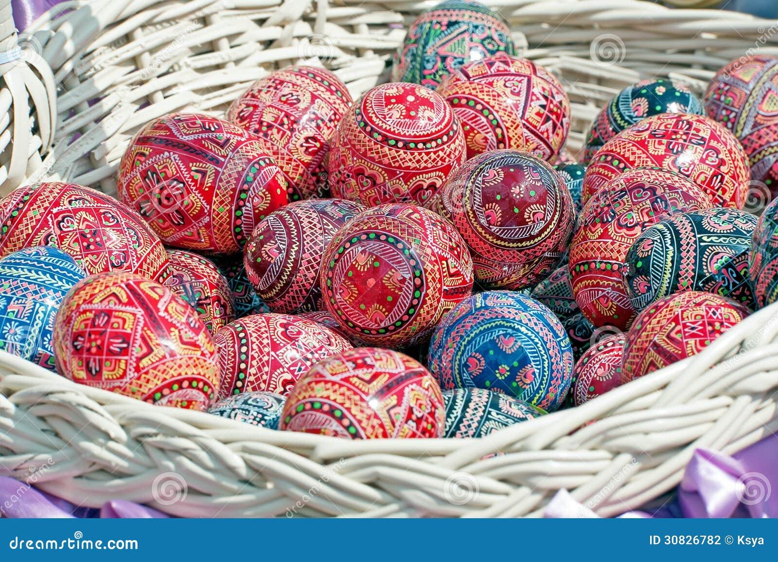 Uova di Pasqua incerate variopinte dell ucranino