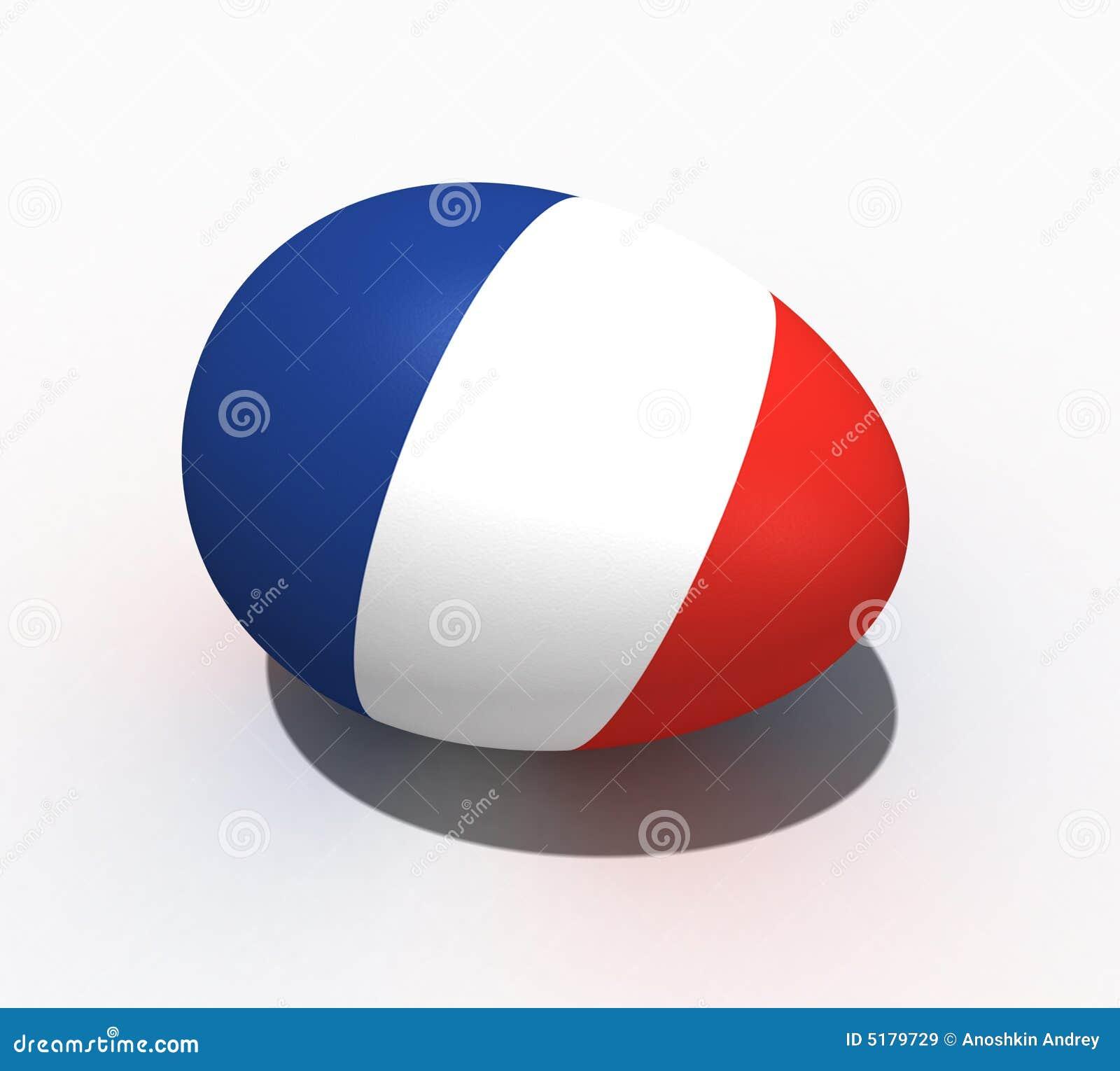 Uovo di pasqua bandierina della francia immagini stock - Simboli di immagini della francia ...