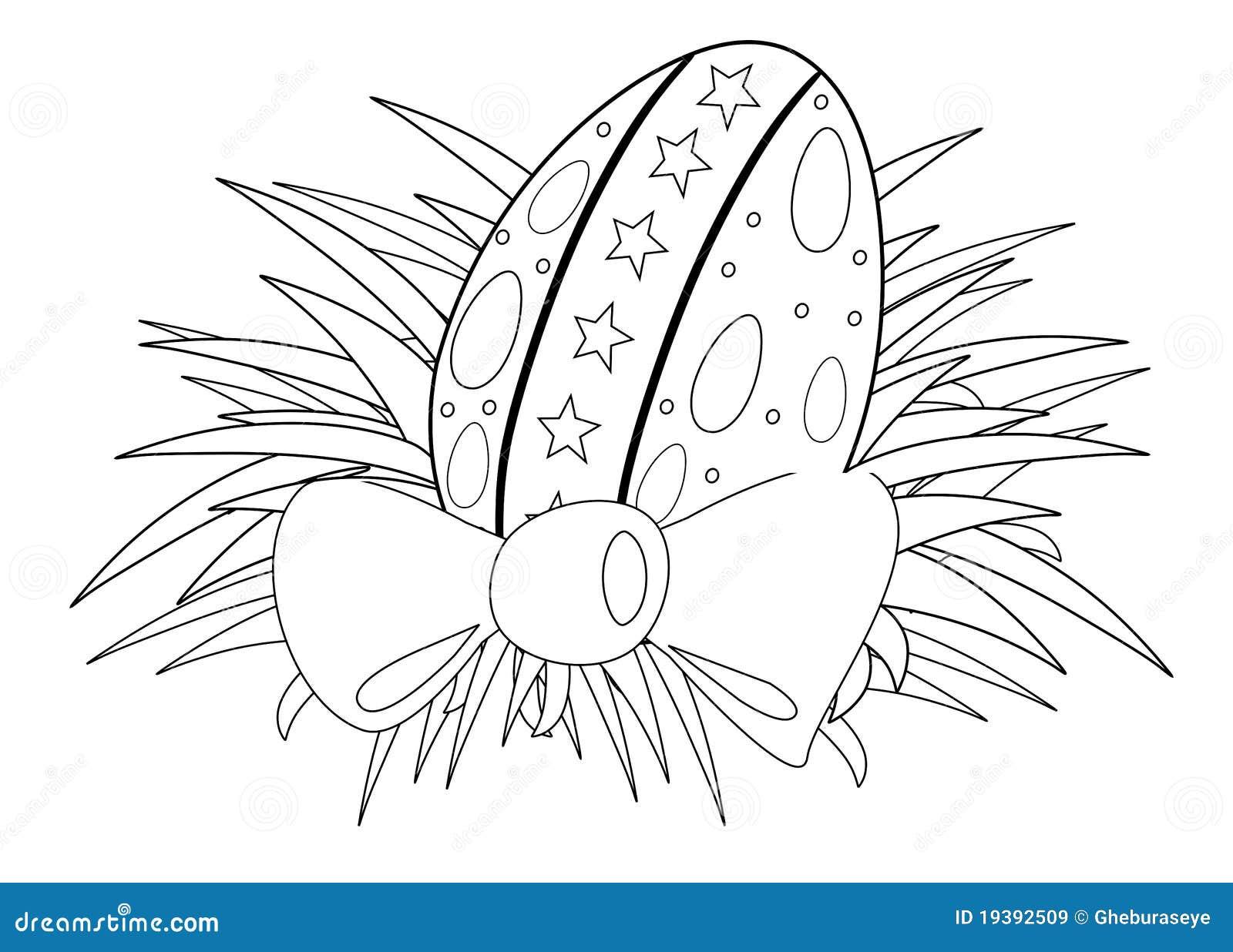 Uovo di pasqua colorabile illustrazione vettoriale - Modello di uovo stampabile gratuito ...