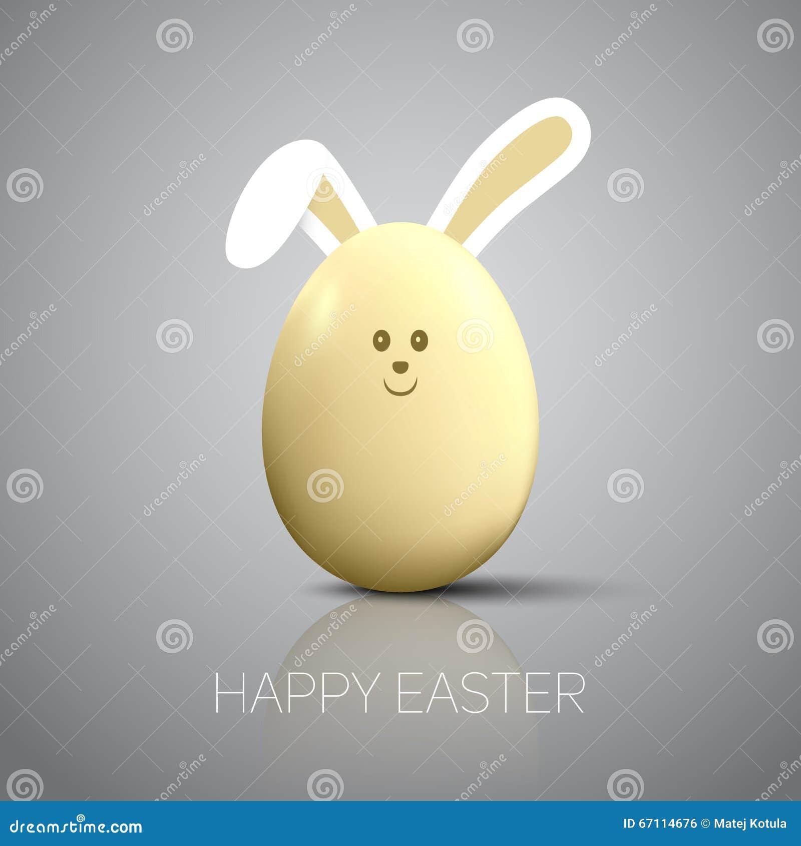 Uovo di pasqua con le orecchie del coniglietto - Lettere stampabili del coniglietto di pasqua ...