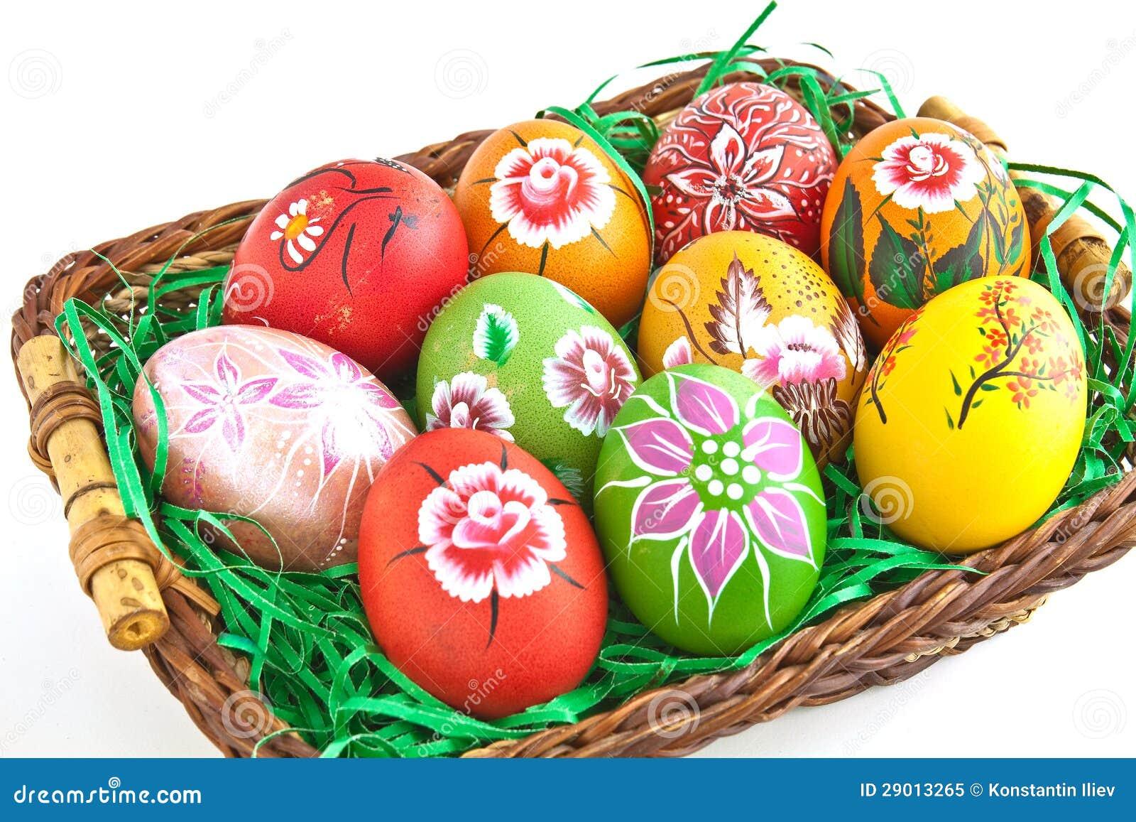 Uovo dipinto a mano immagine stock immagine di aprile 29013265 - Uova di pasqua decorati a mano ...