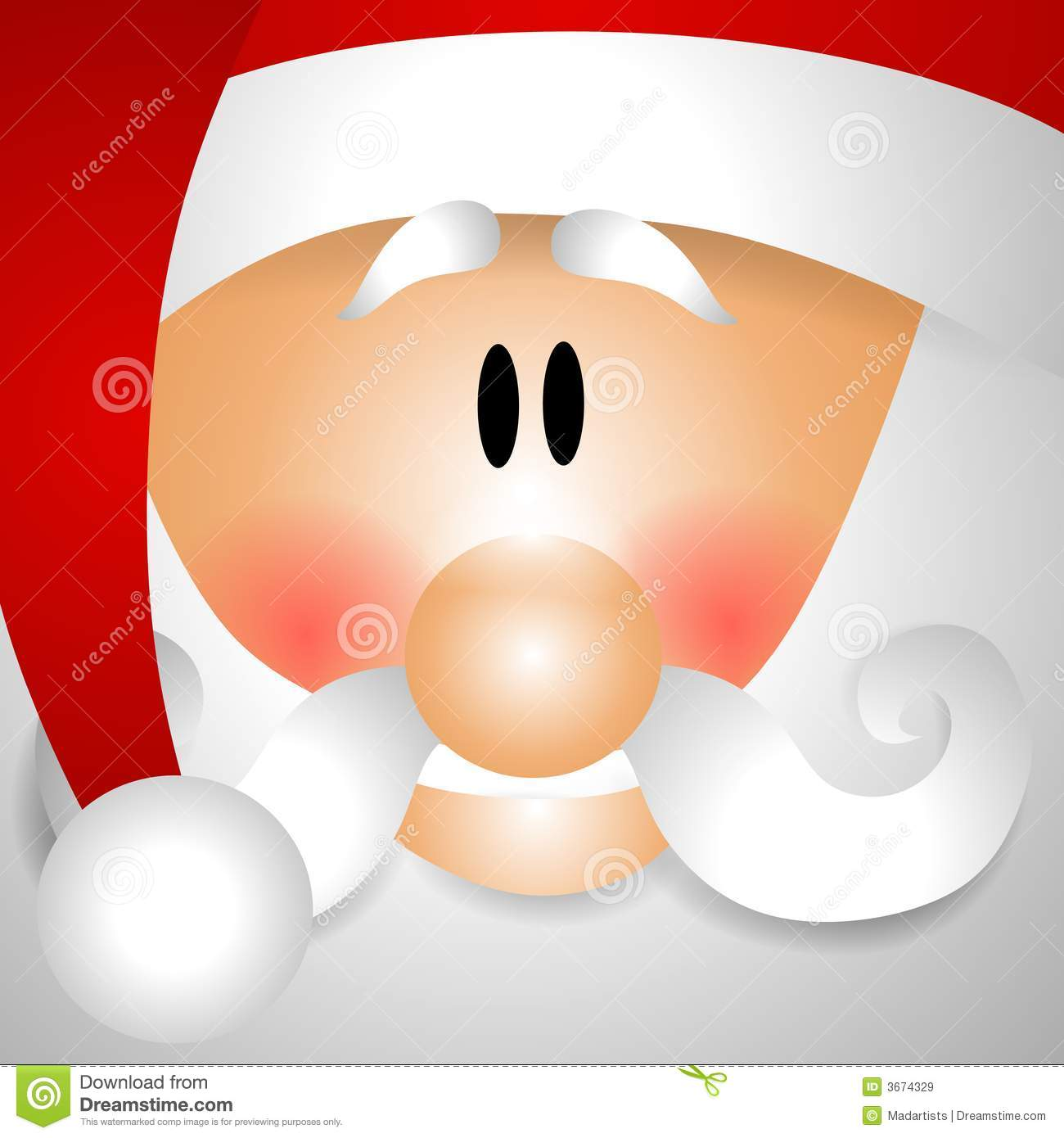 Up Close Face Of Santa Claus Clip Art Royalty Free Stock Images ...