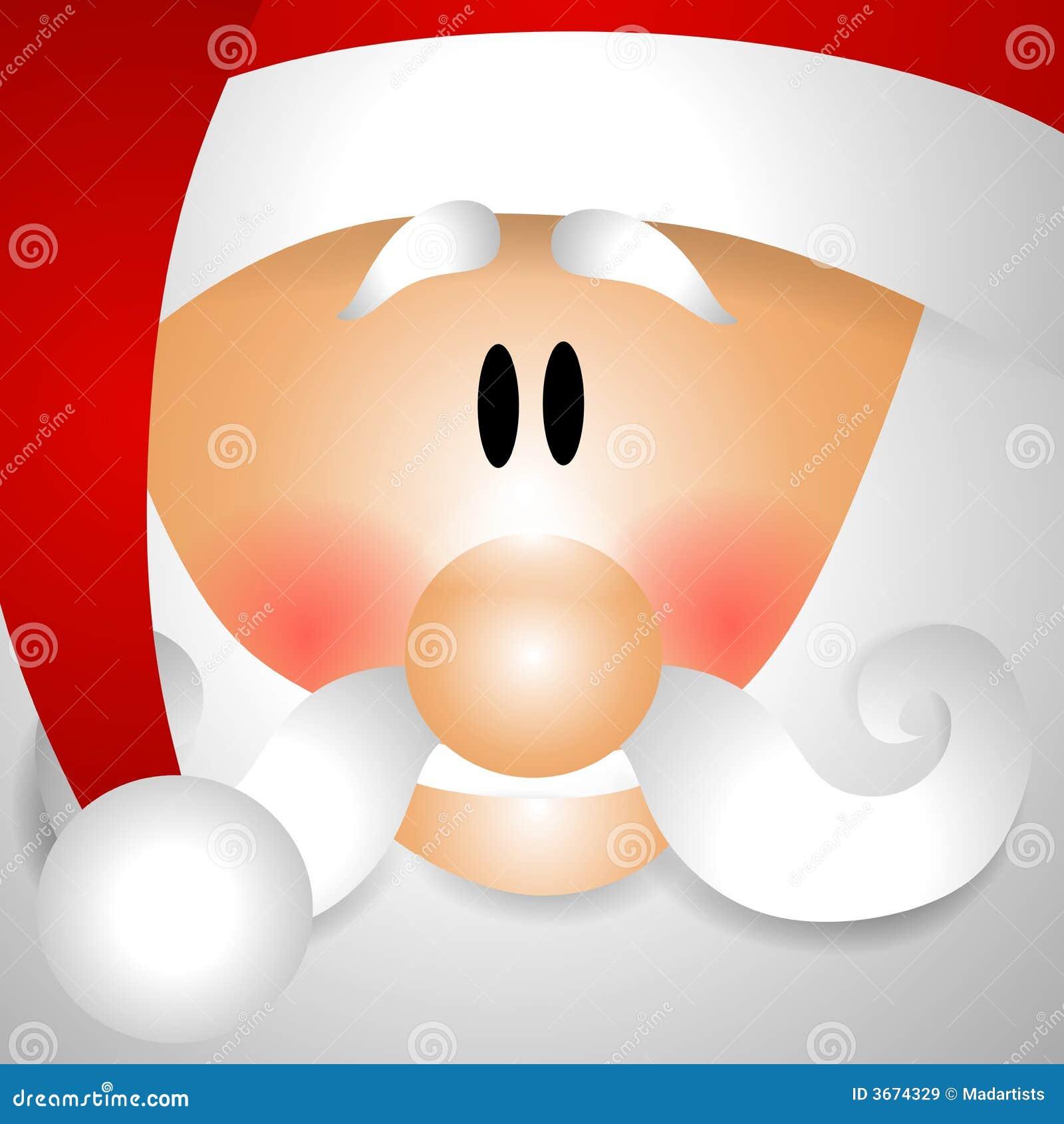 Santa Face Clipart Up close face of santa claus