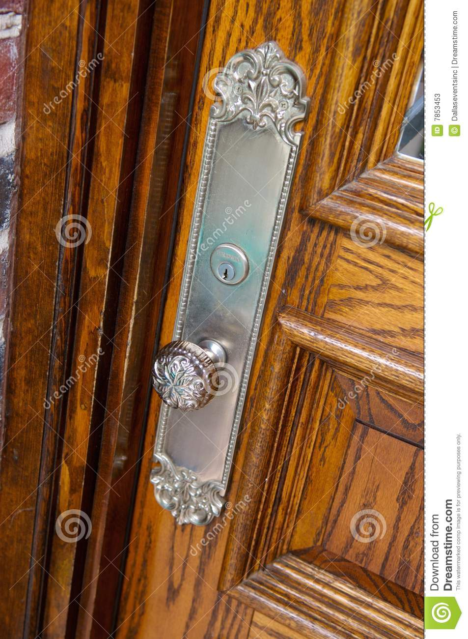 Up Close Image Of N Antique Door Knob Stock Image Image