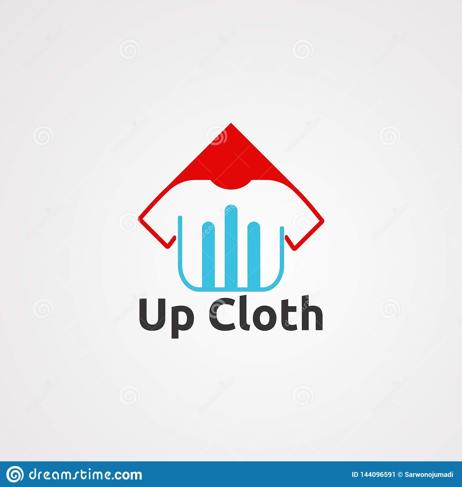 Up cloth logo vector, icon, element, and template for company