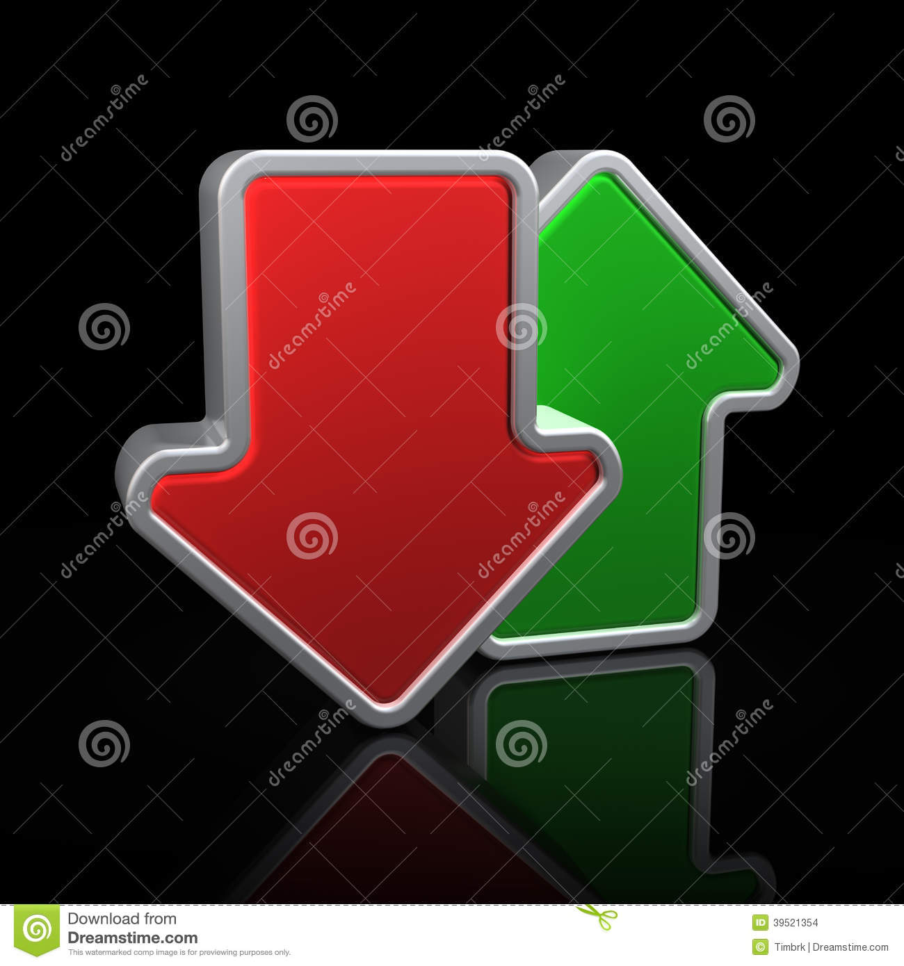 up and down arrows stock illustration image 39521354