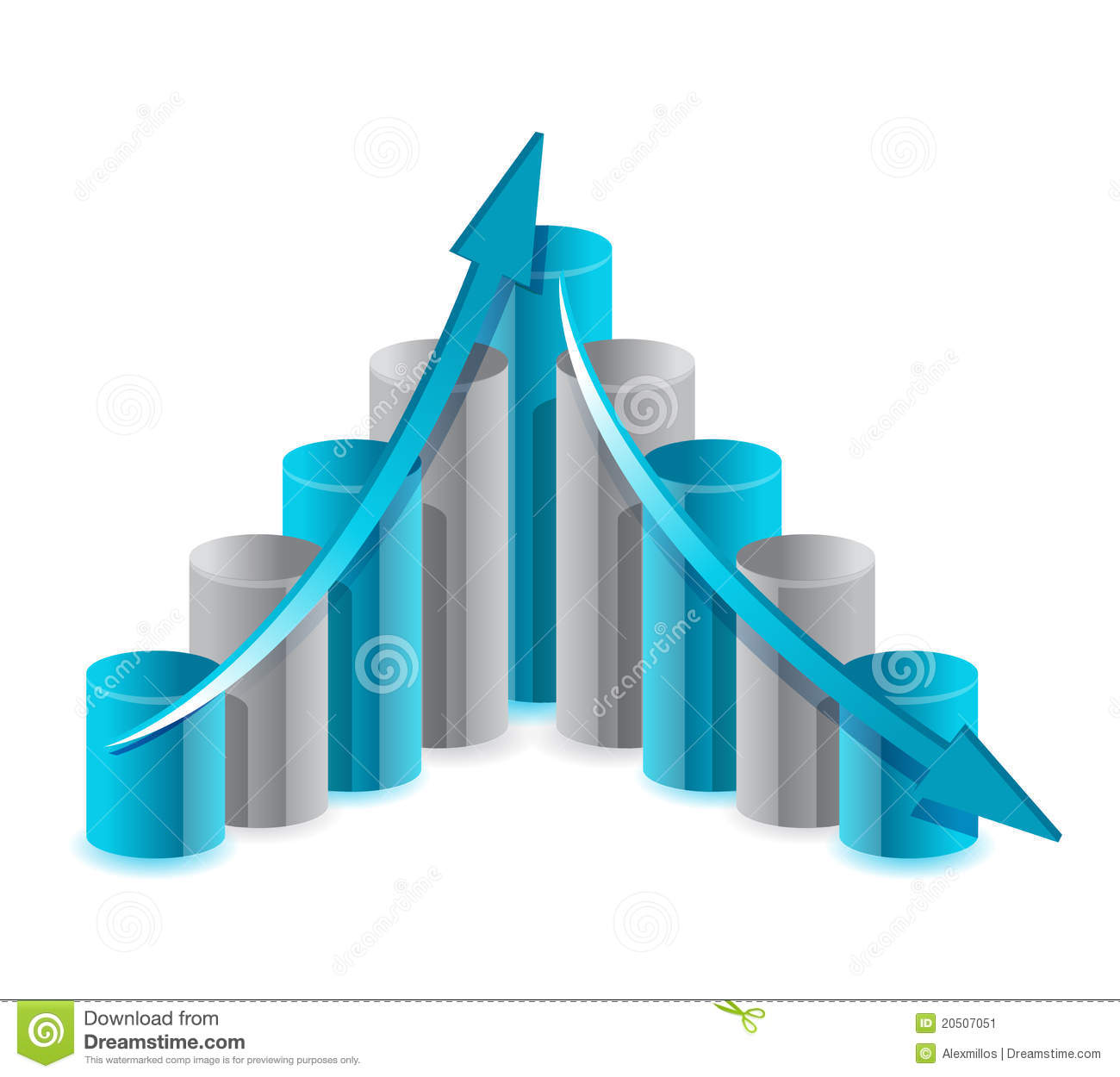 Up and down financial chart illustration stock image - Table up down extensible ...