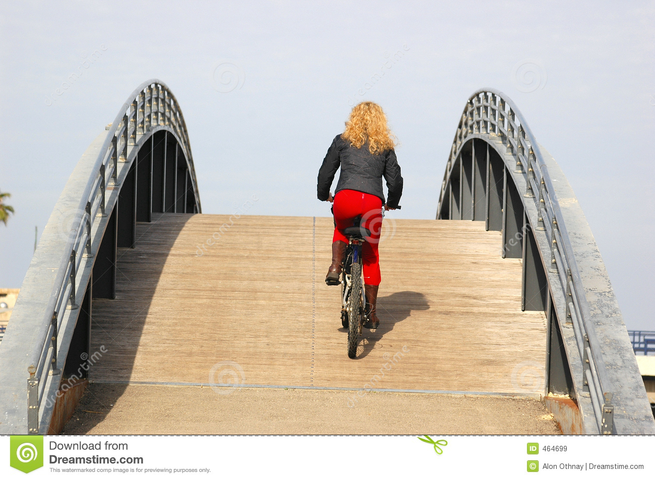 Download Up the hill stock image. Image of bike, woman, hill, effort - 464699