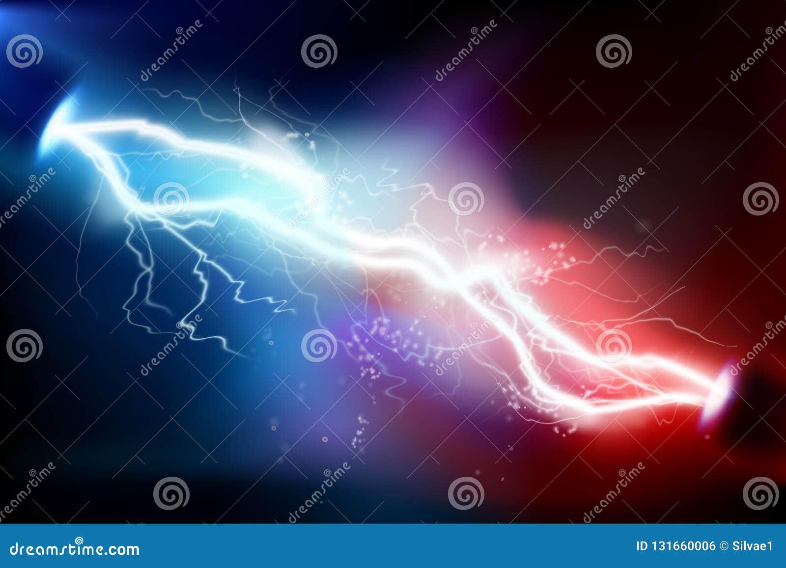 Upału oświetlenie rozładowanie elektryczny również zwrócić corel ilustracji wektora