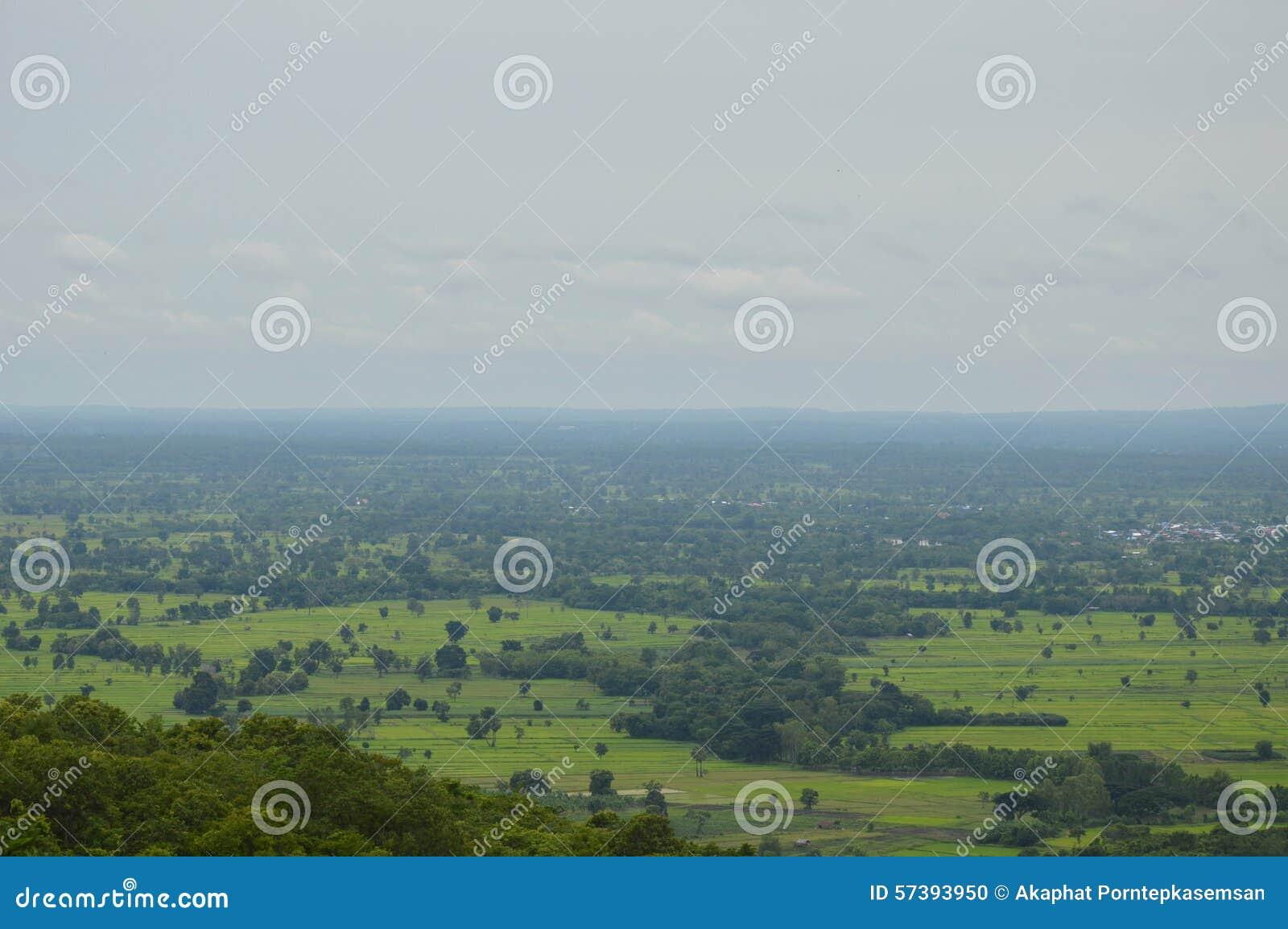 Upcountry landschap van Thailand