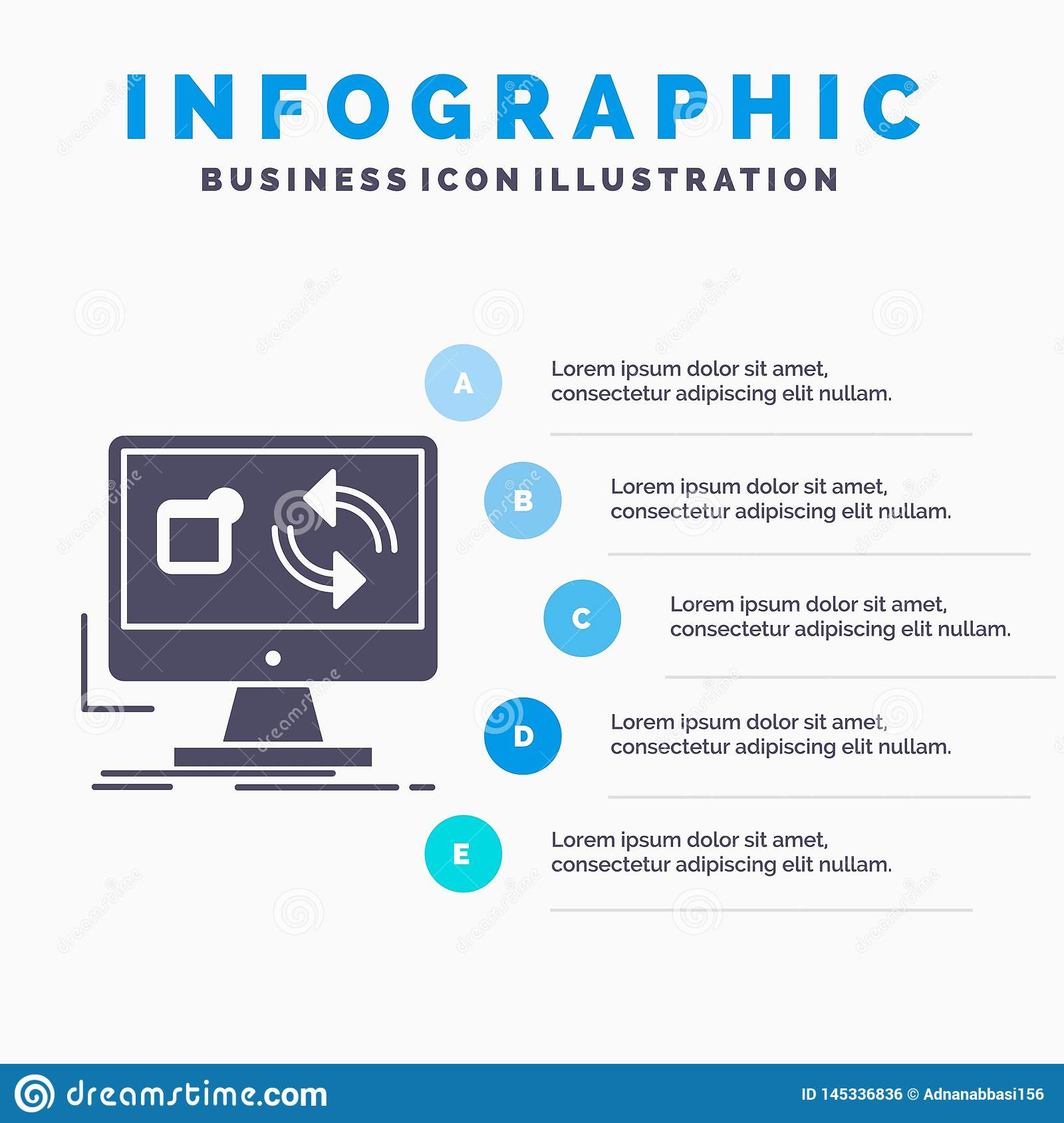 Update, App, Application, Install, Sync Infographics Template For