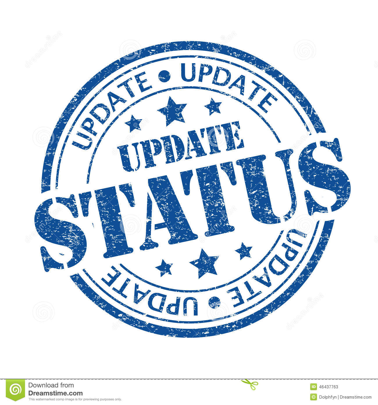 Update Status Stock Illustration - Image: 46437763