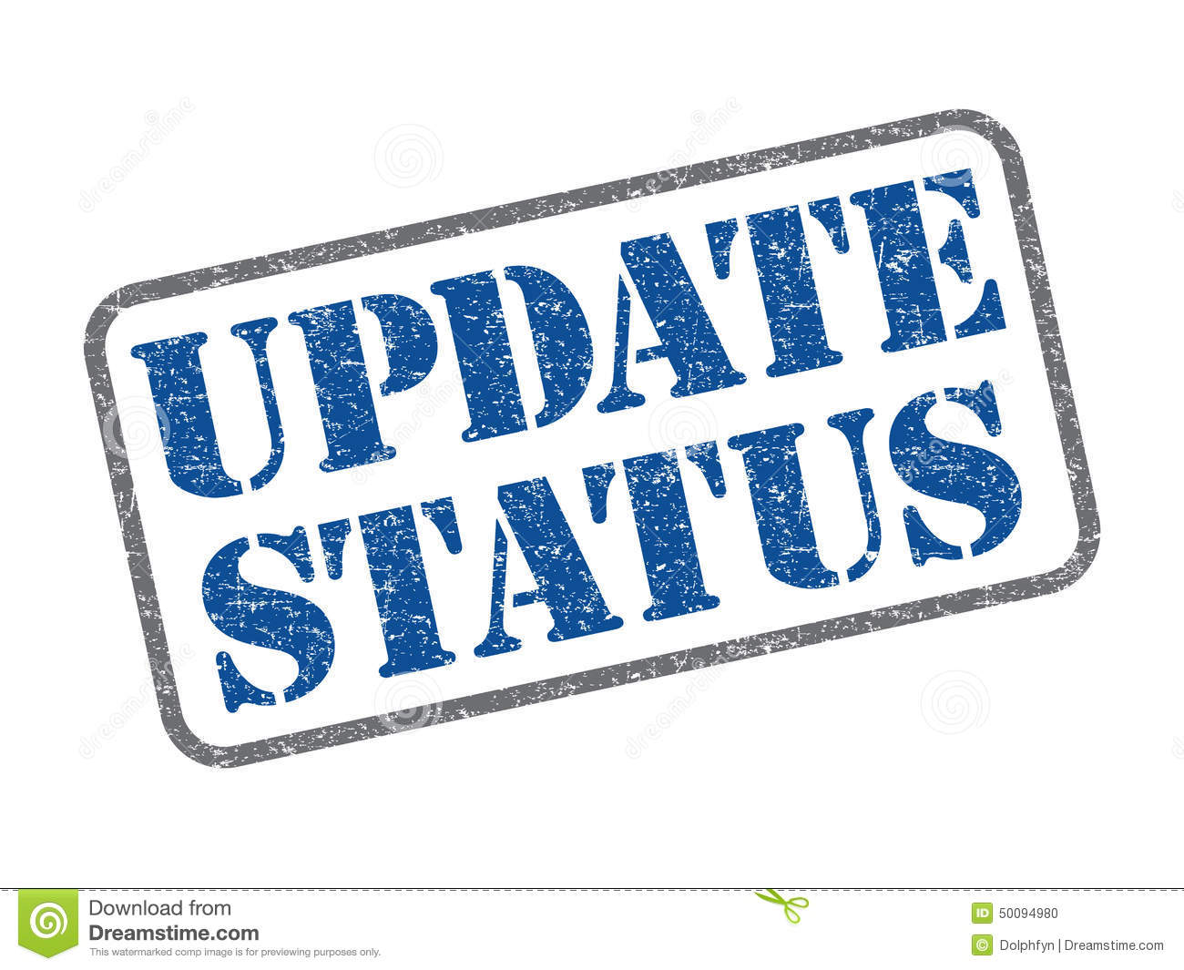 Update Status Stock Photo  Image: 50094980