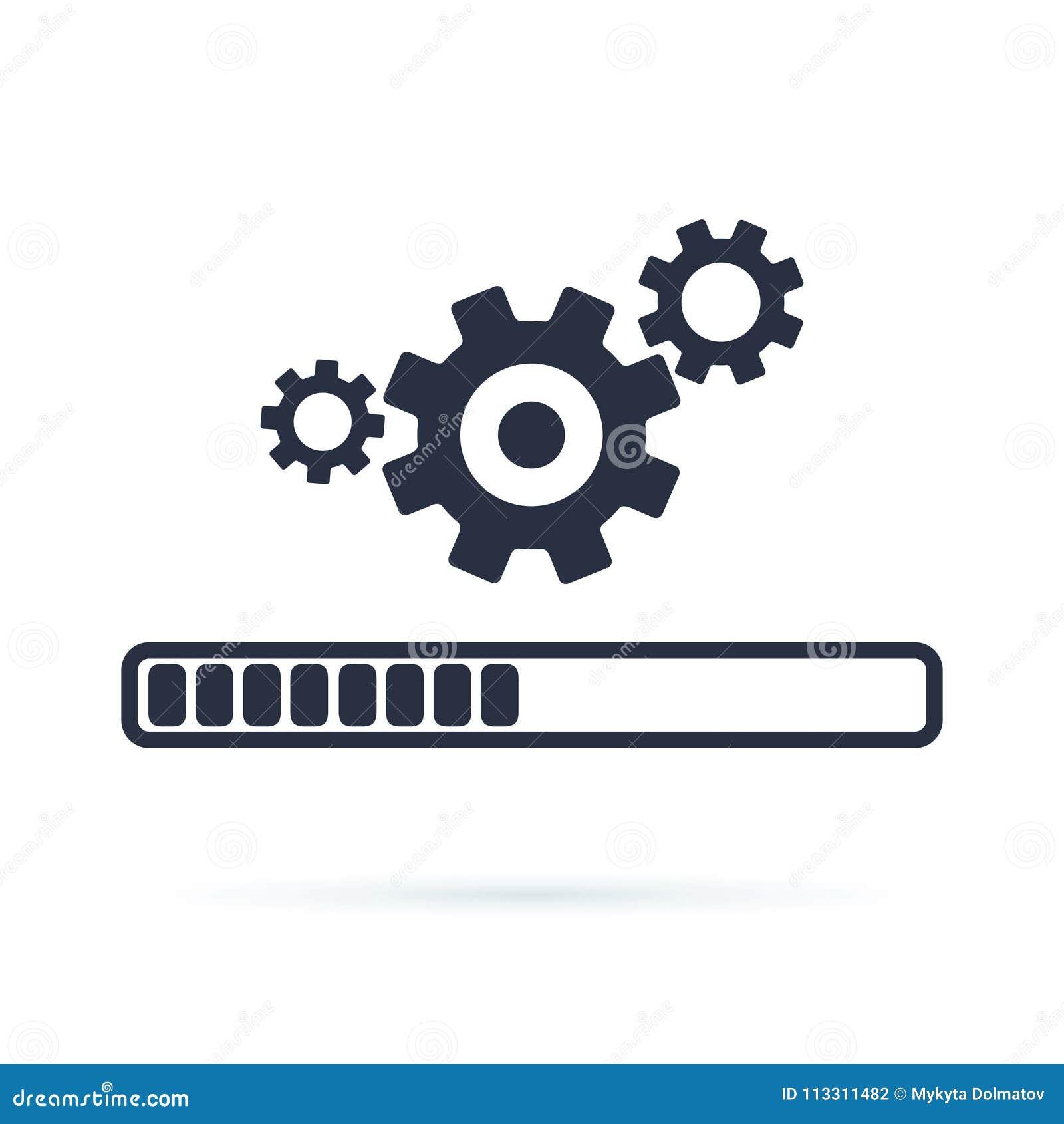 Update System Icon Modern Flat Design Illustratio