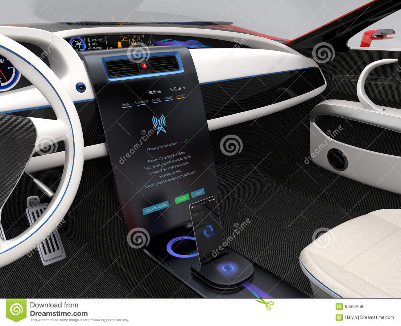 Update Vehicle Software Just Touch Cars Center Console Stock Photo Image 60332696