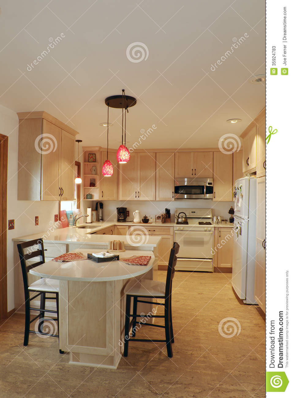 Updated Kitchen Updated Kitchen Interior Stock Photos Image 35924783