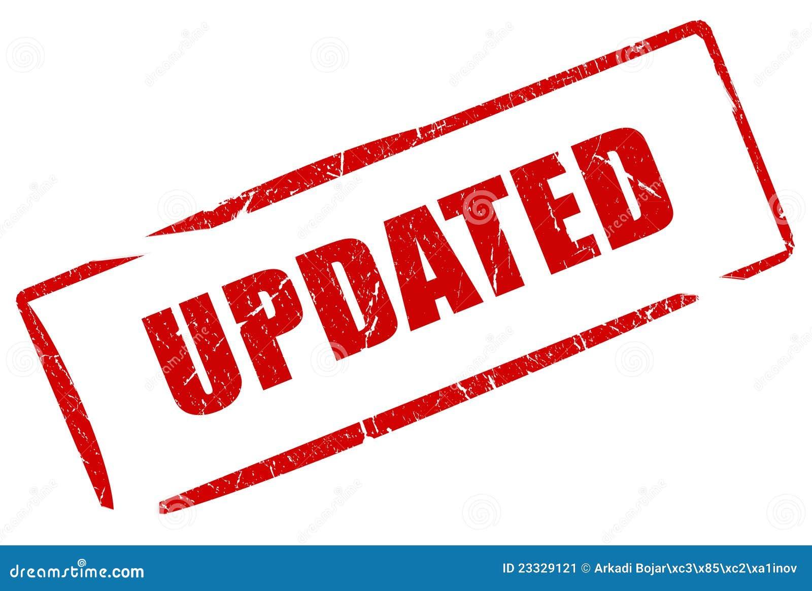 updated stamp stock illustration illustration of update 23329121